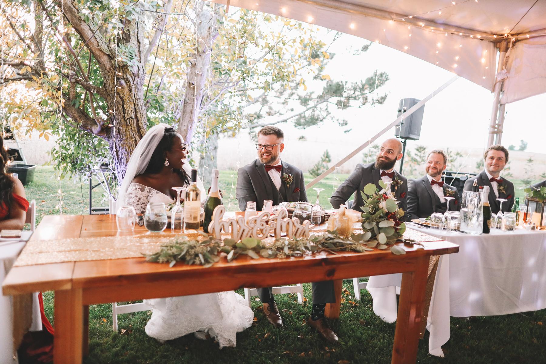 outdoor wedding reception ideas | Charlie and Shirleys Wedding