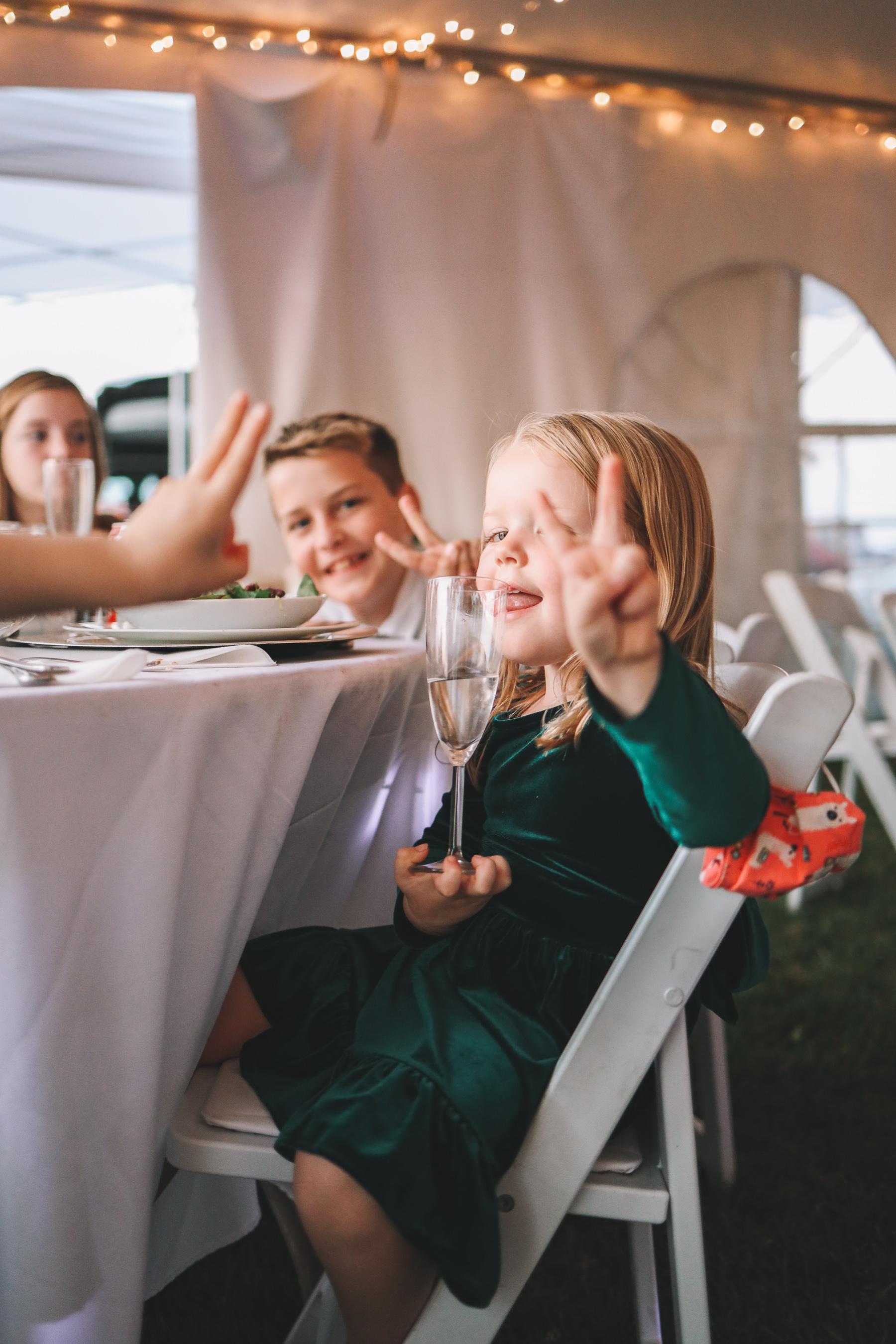 pandemic reception  | Charlie and Shirleys Wedding