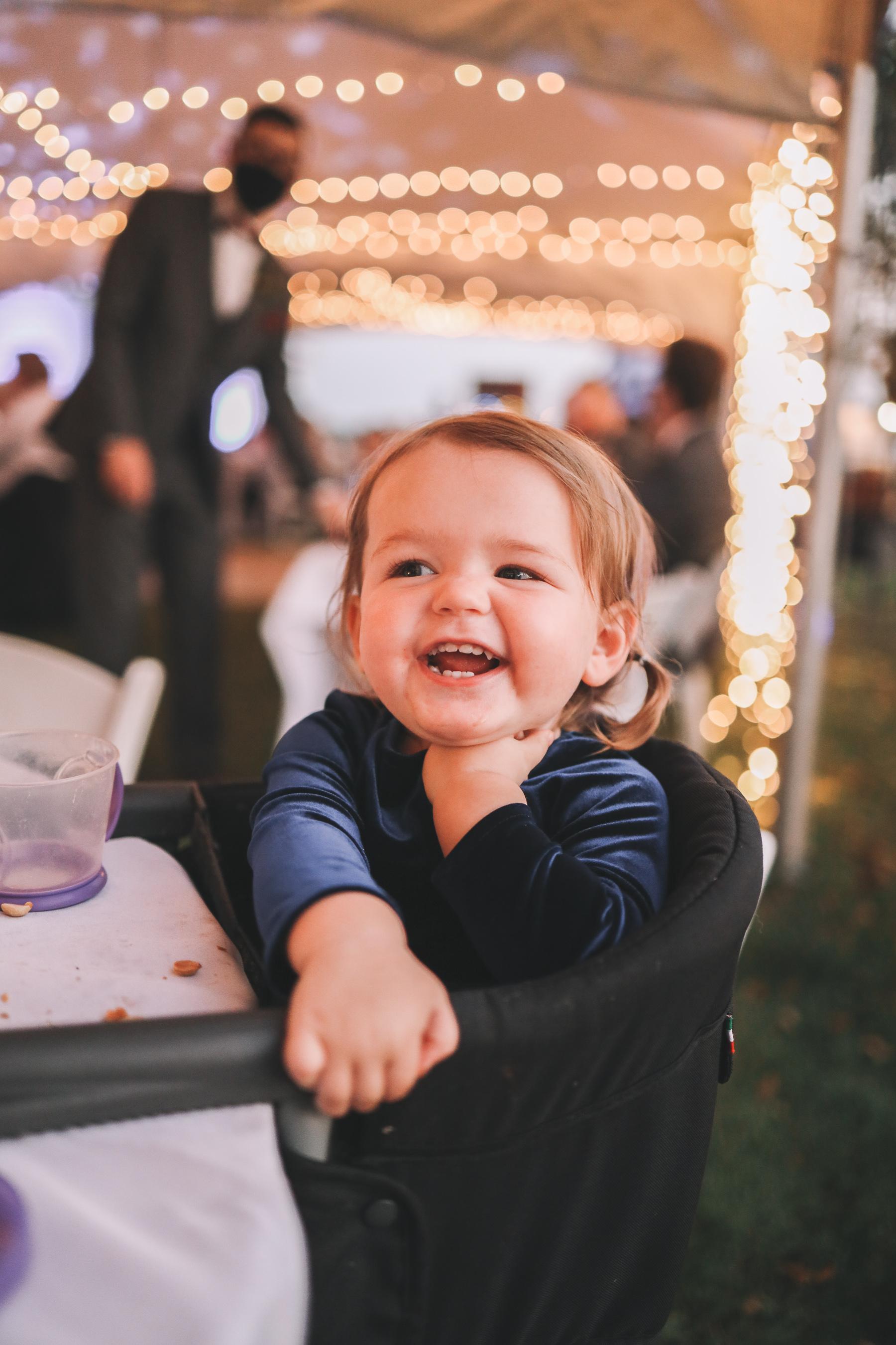 happy baby | Charlie and Shirleys Wedding