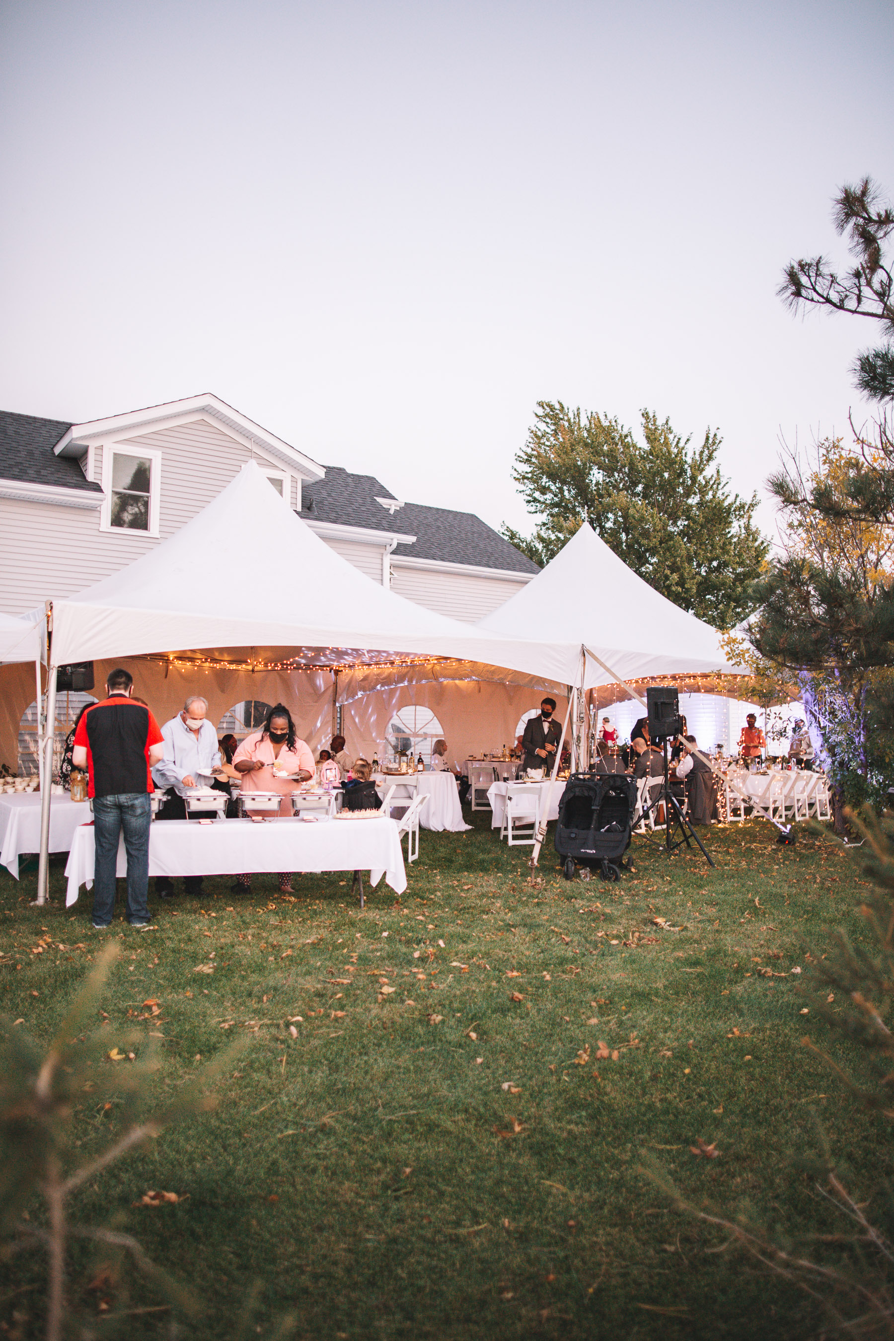 outdoor receptions | Charlie and Shirleys Wedding