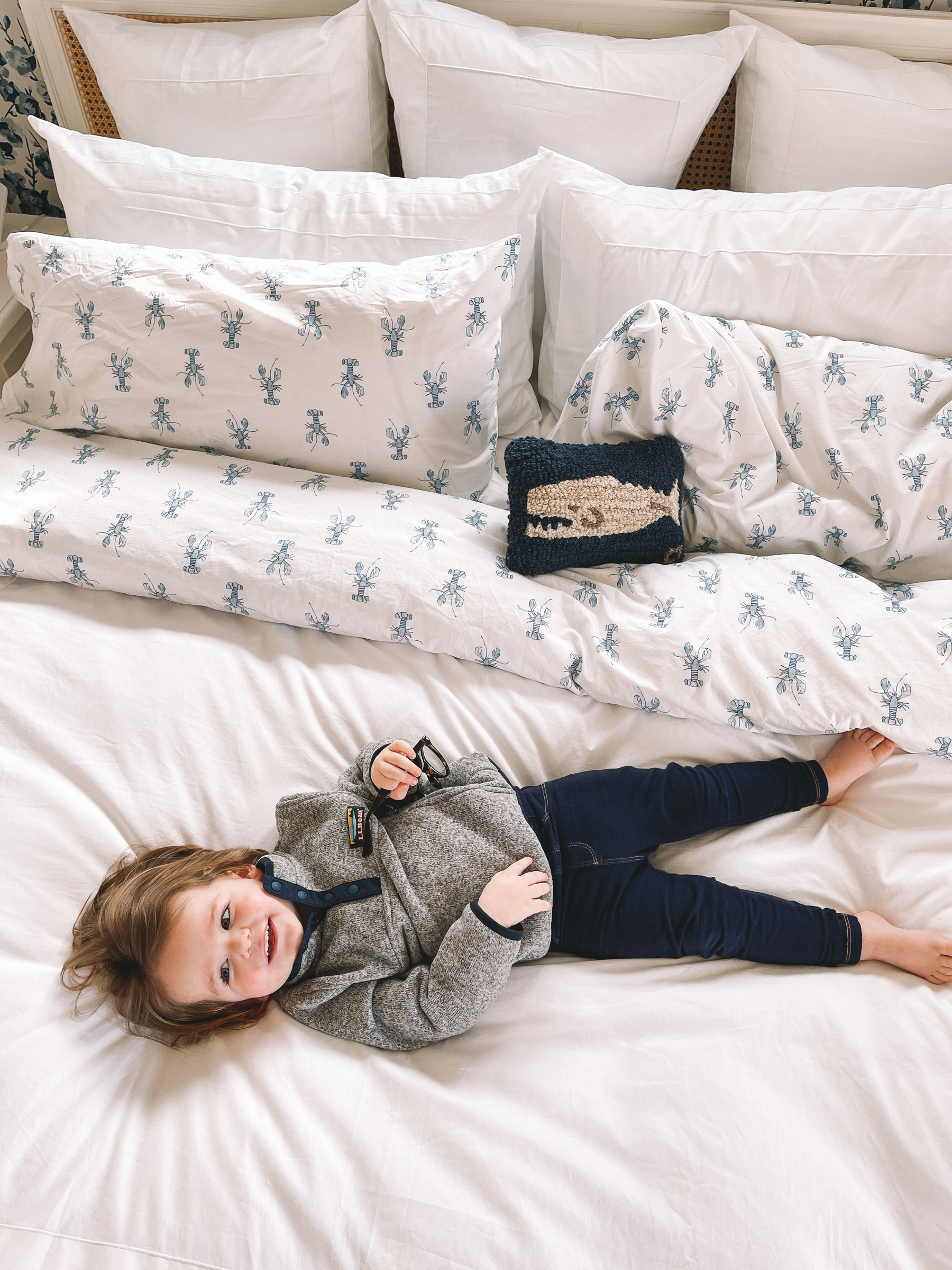 L.L.Bean x Sara Fitz Bedding | L.L.Bean x Sara Fitz Lobster Bedding