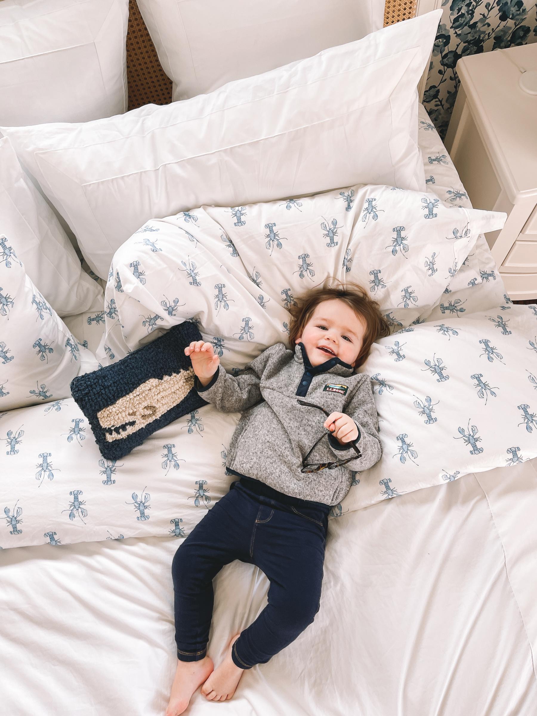 L.L.Bean x Sara Fitz Lobster Bedding