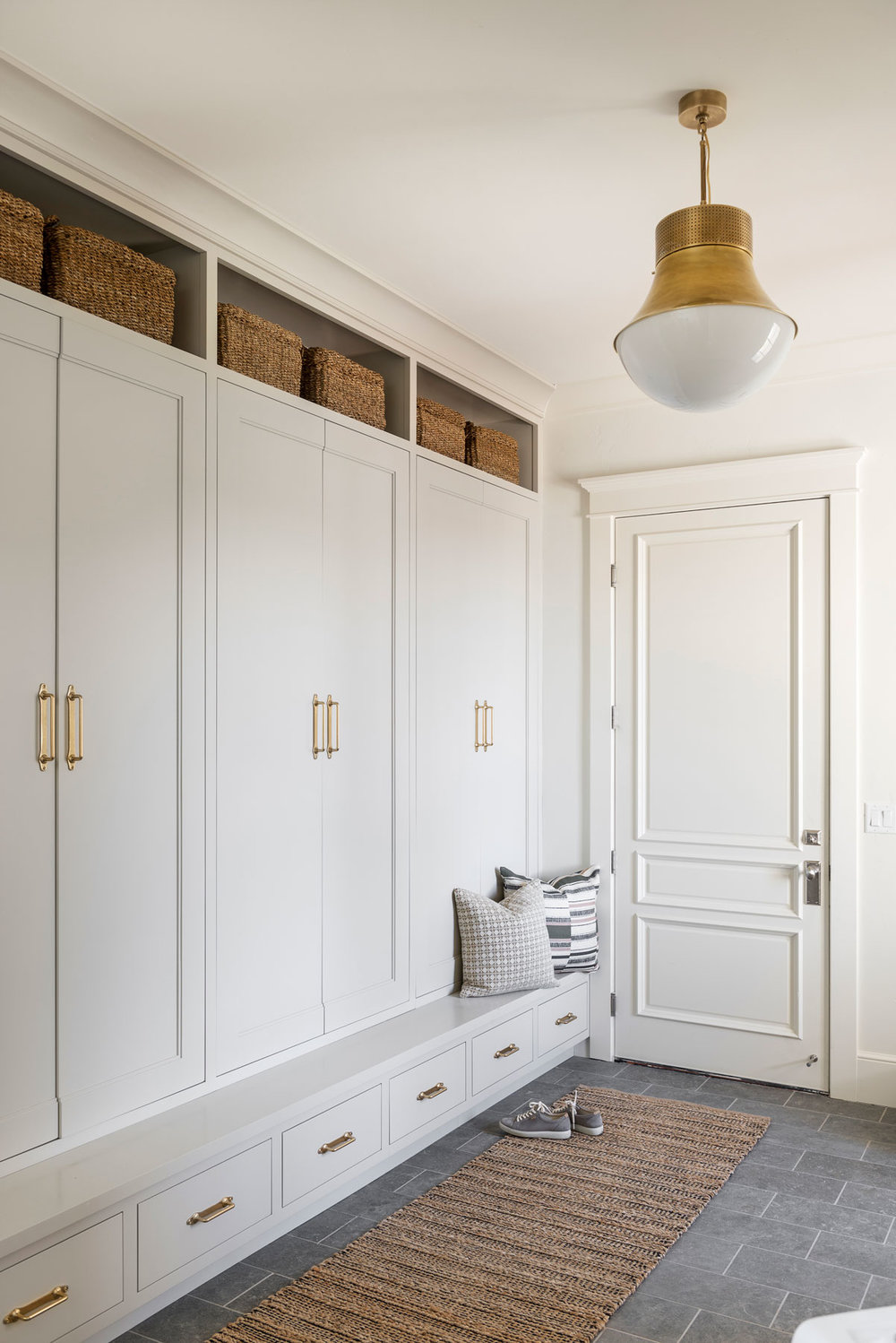 mudroom with baskets