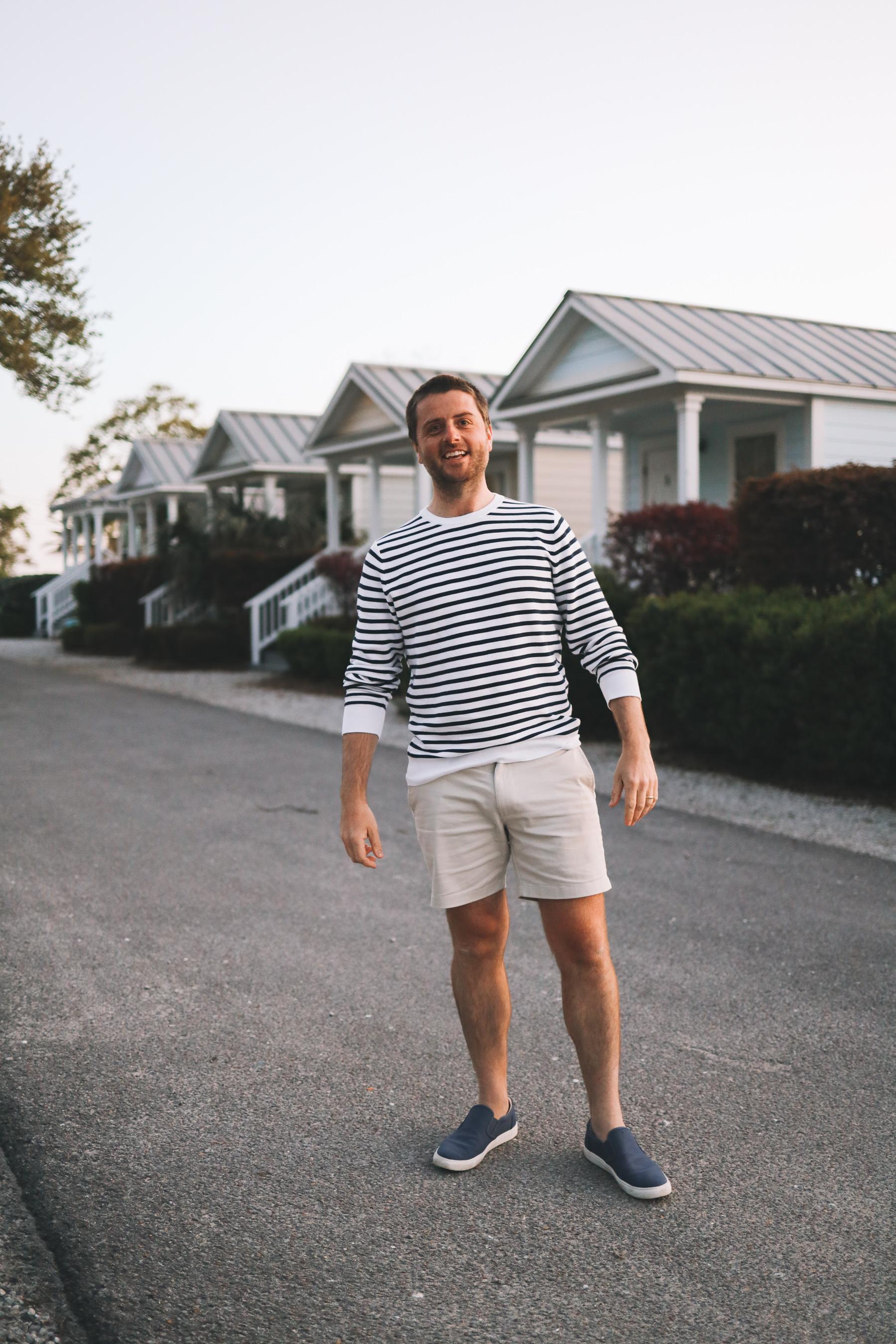 mitch in striped shirt