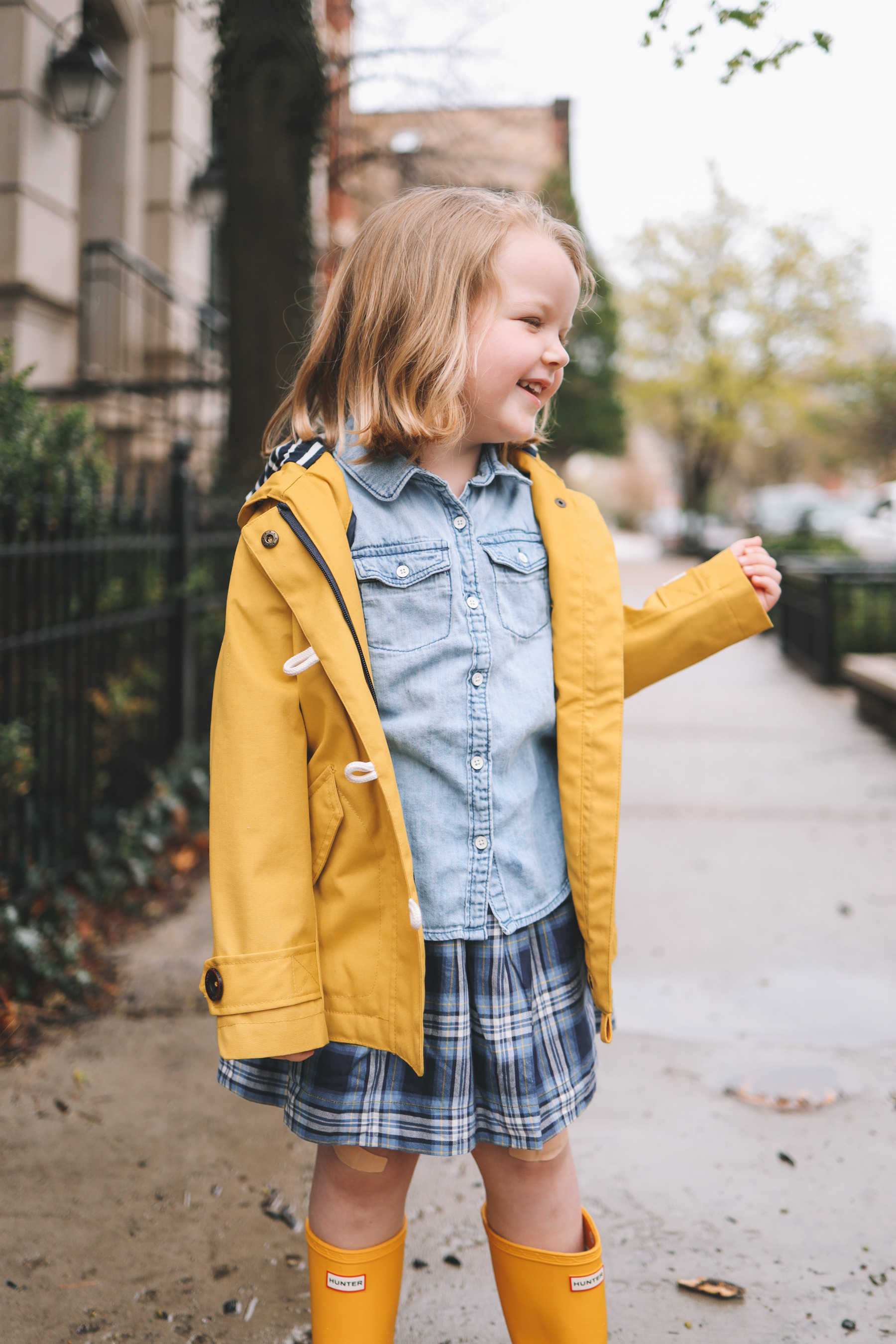 kids hunter boots | Rory Gilmore Rainy Day Outfits