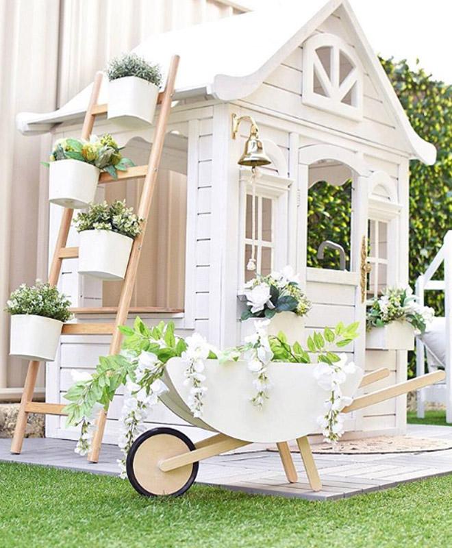 fresh white play house design