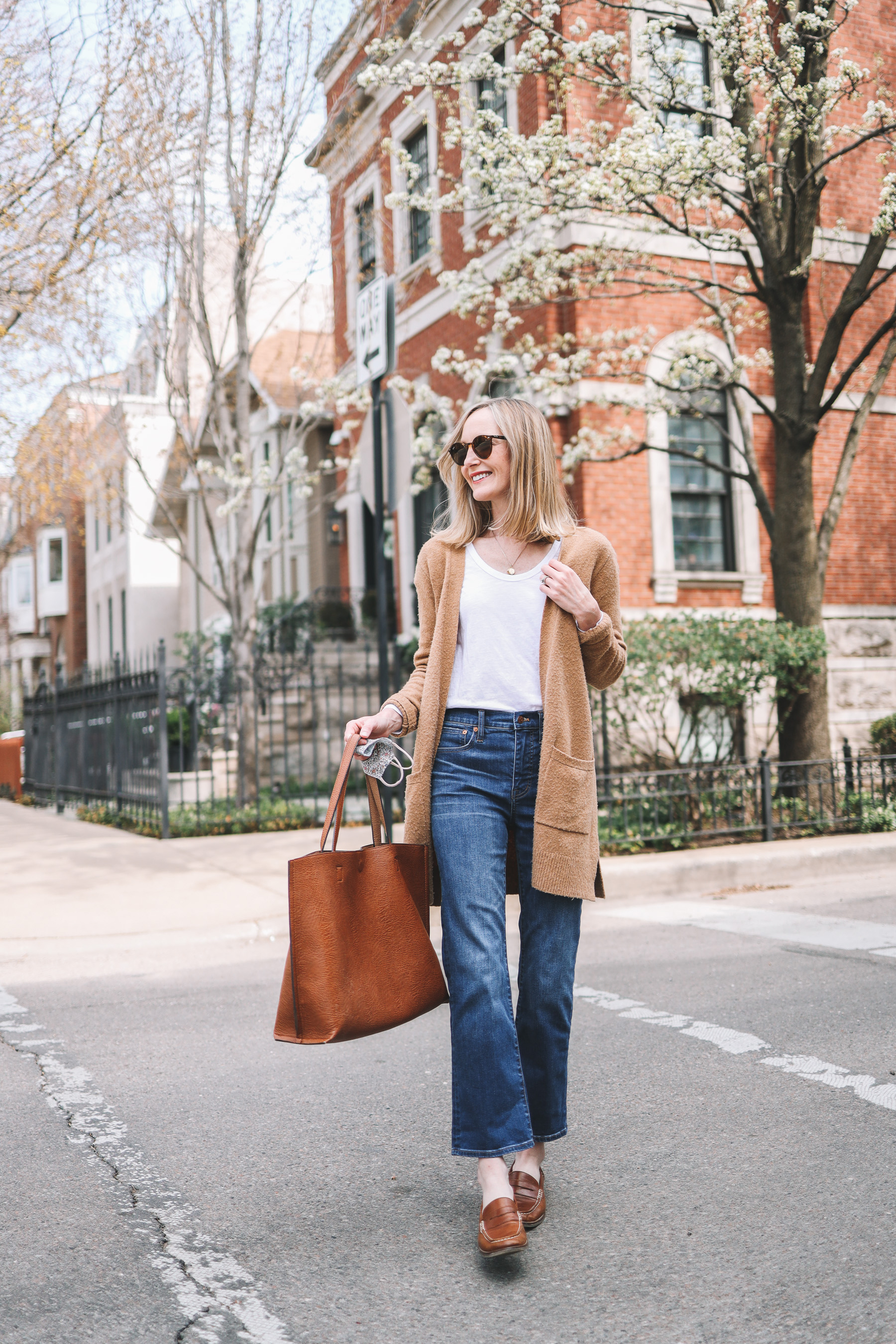 Go-To Casual Spring Outfit | madewell demi boot jeans