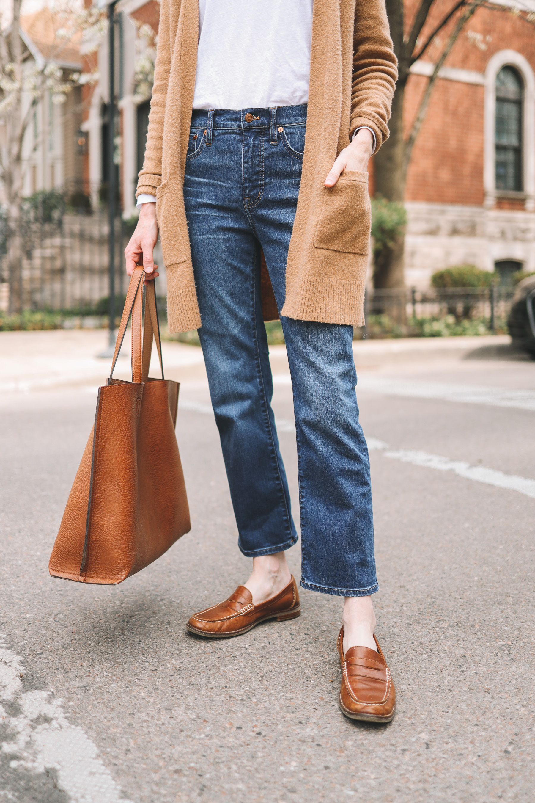Nordstrom Faux Leather Tote | Go-To Casual Spring Outfit