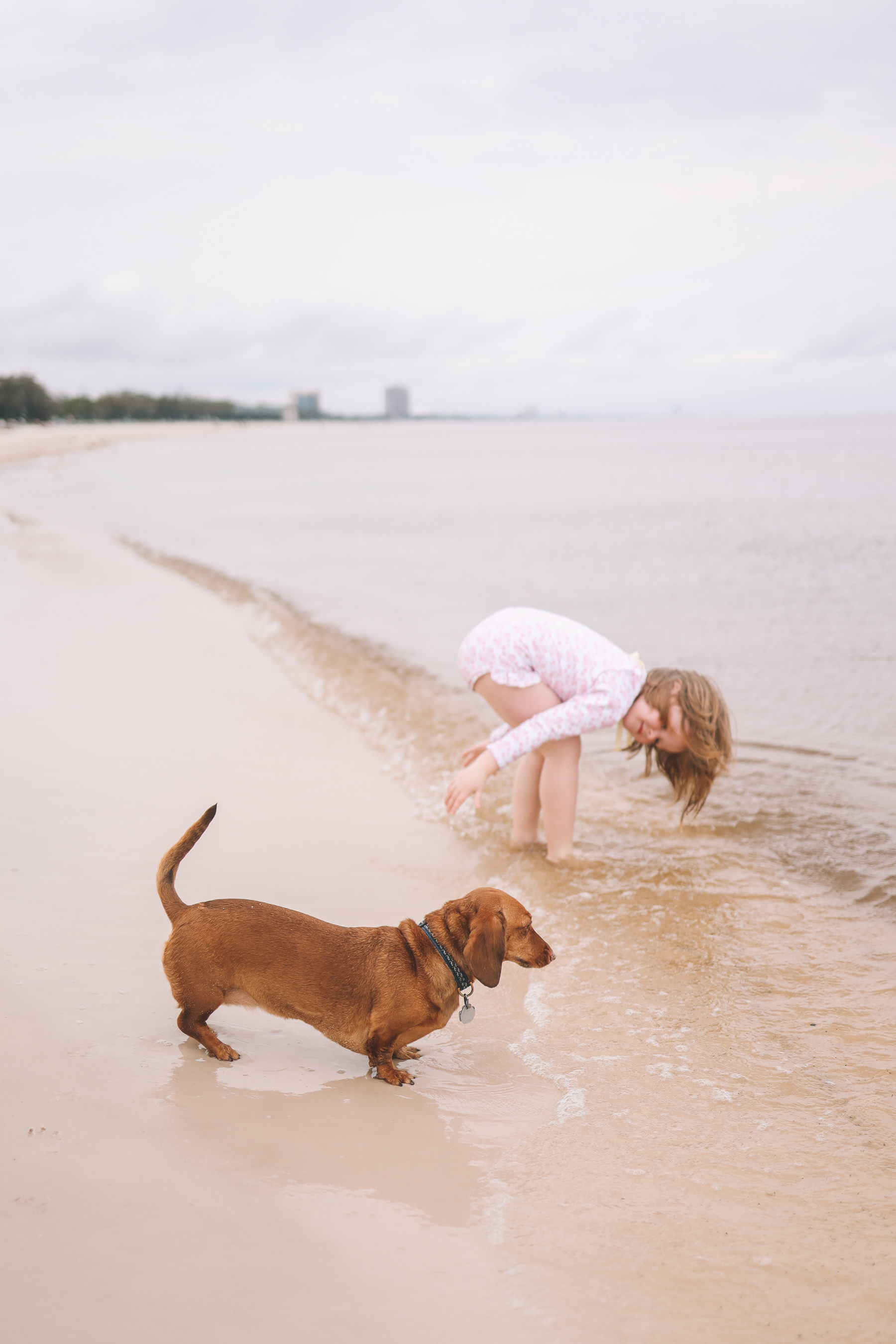 toddler playing Gulf Beach Day