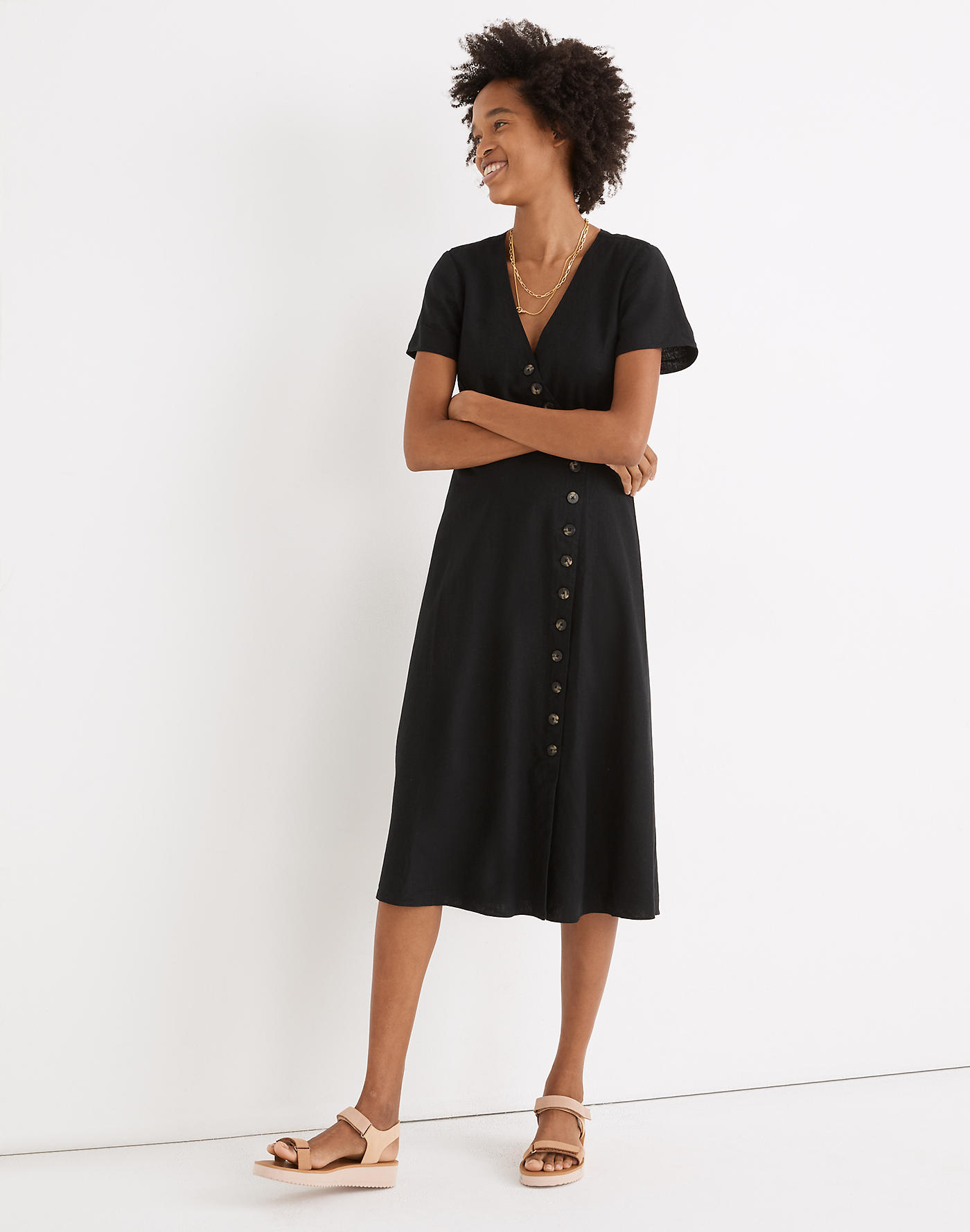 Madewell Asymmetrical Button-Front Linen Dress   Recent Finds, 5/21