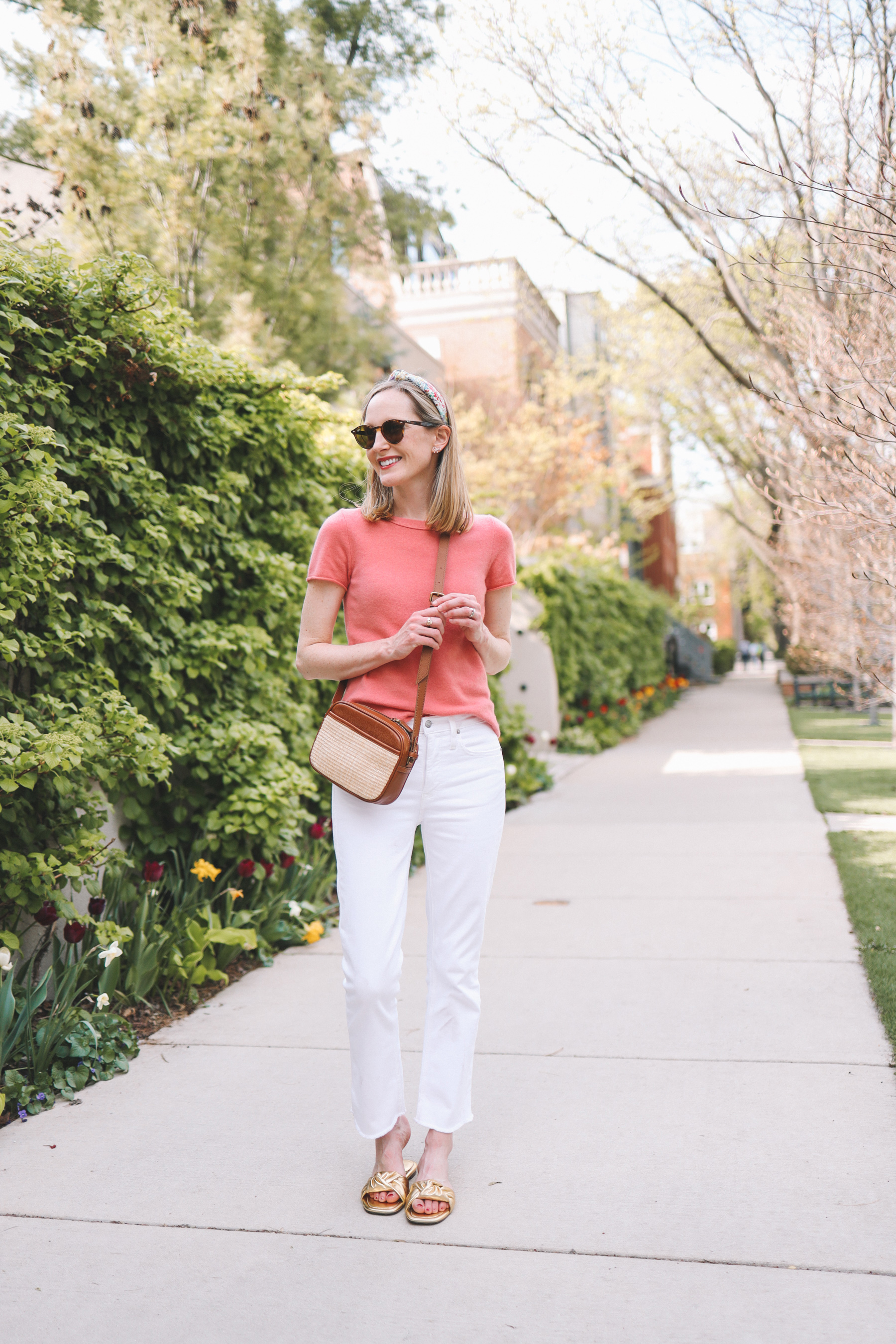 Demi-Boot White Jeans