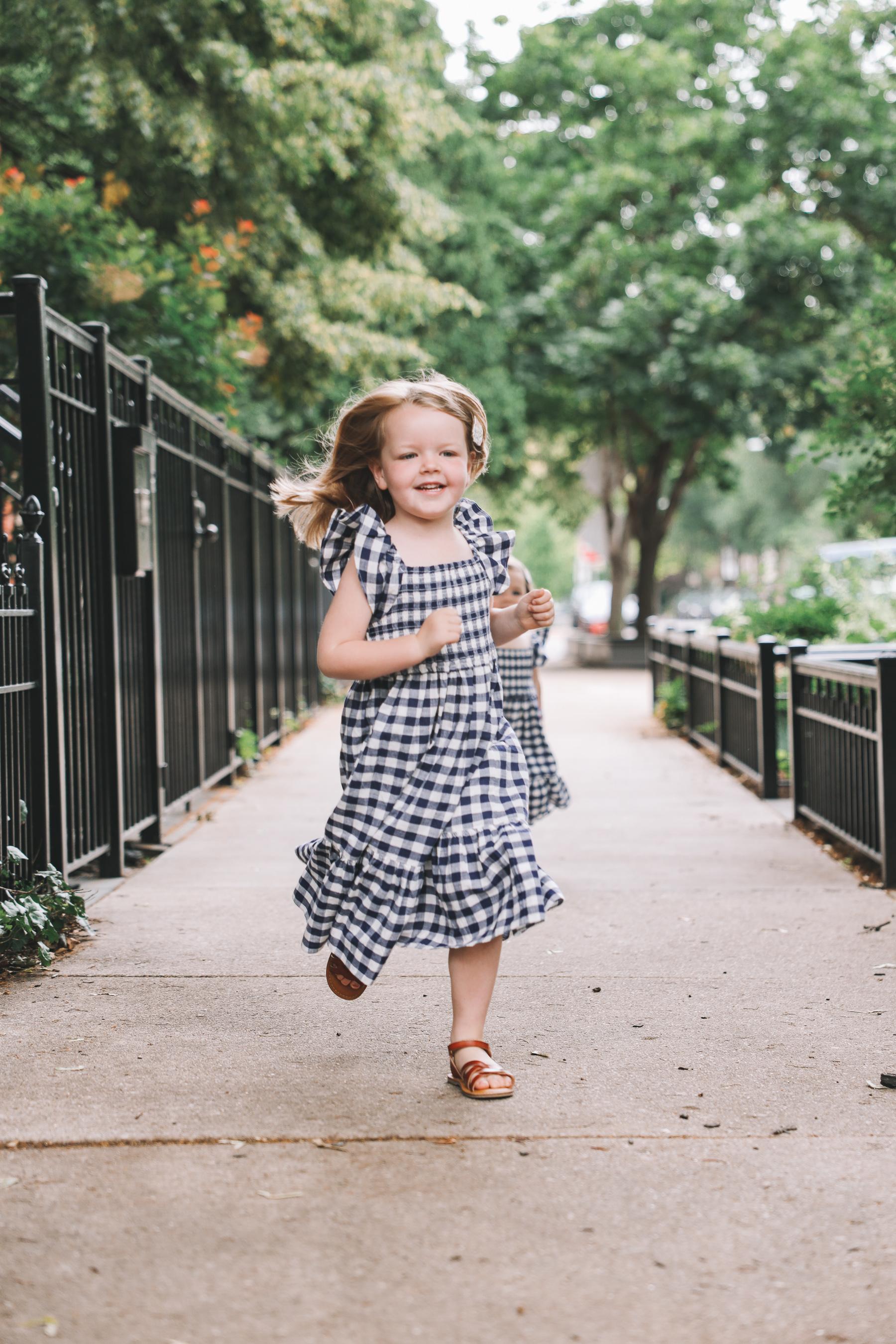 little girls gingham dress