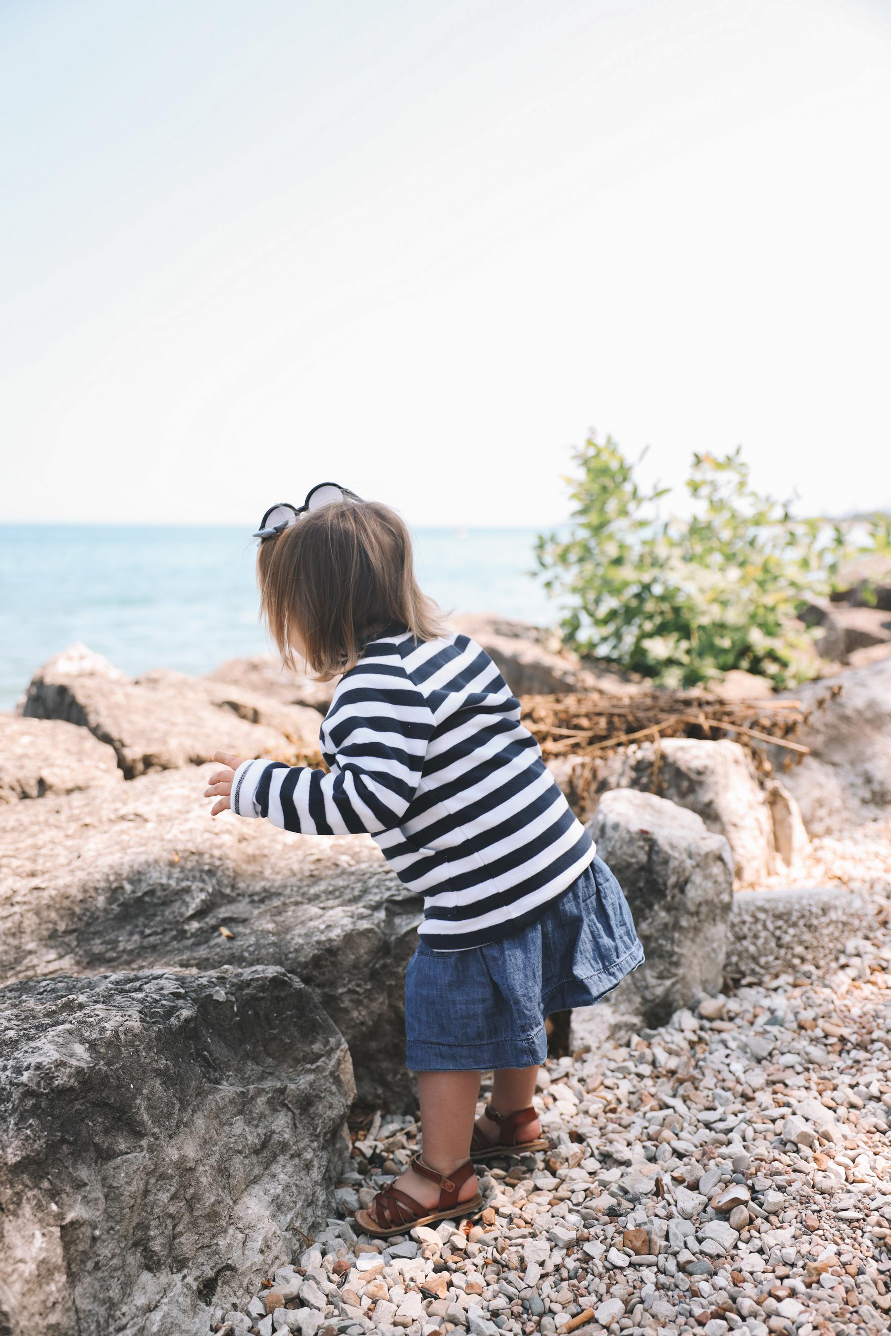 striped fleece top for kids