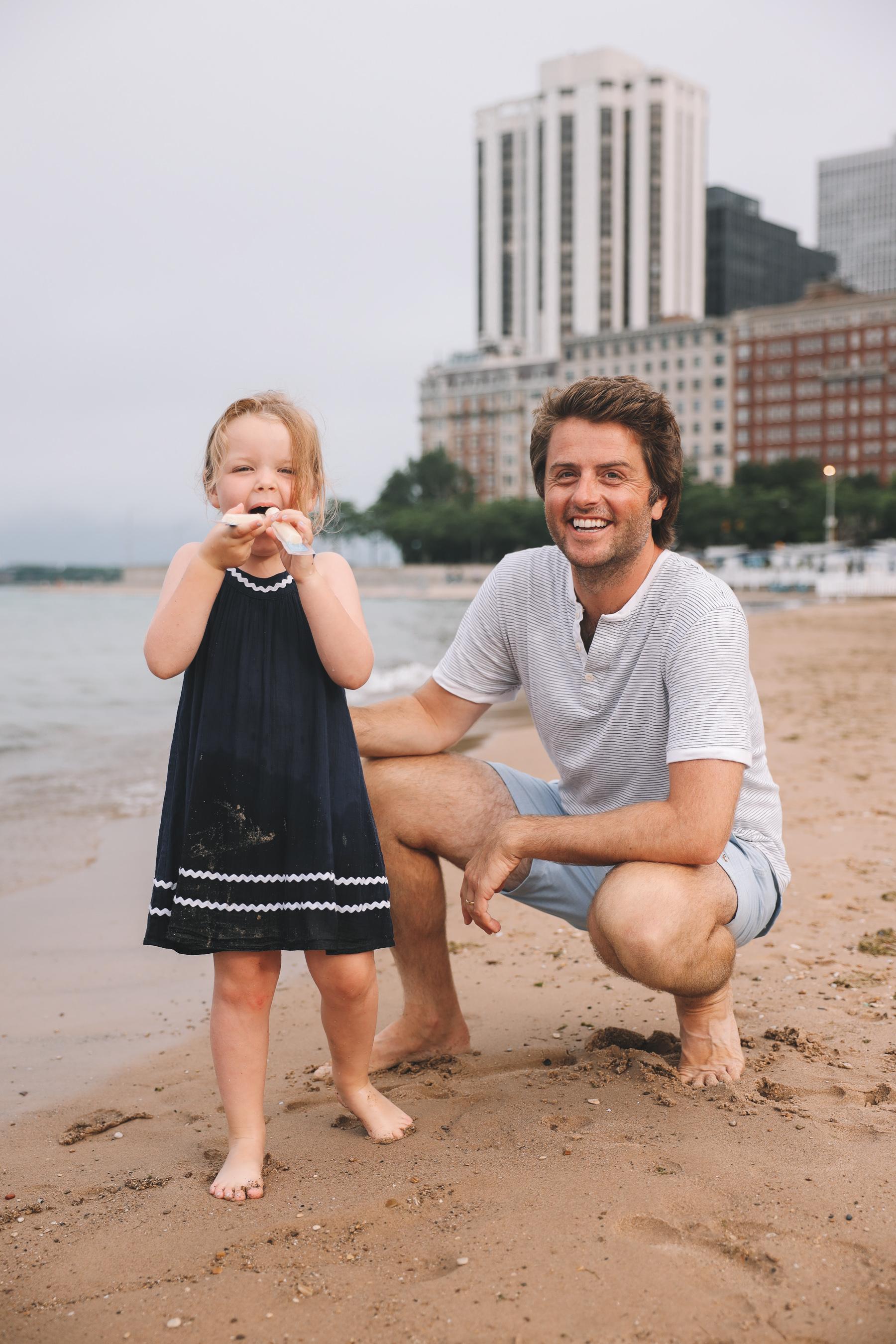 Oak Street Beach Chicago Family