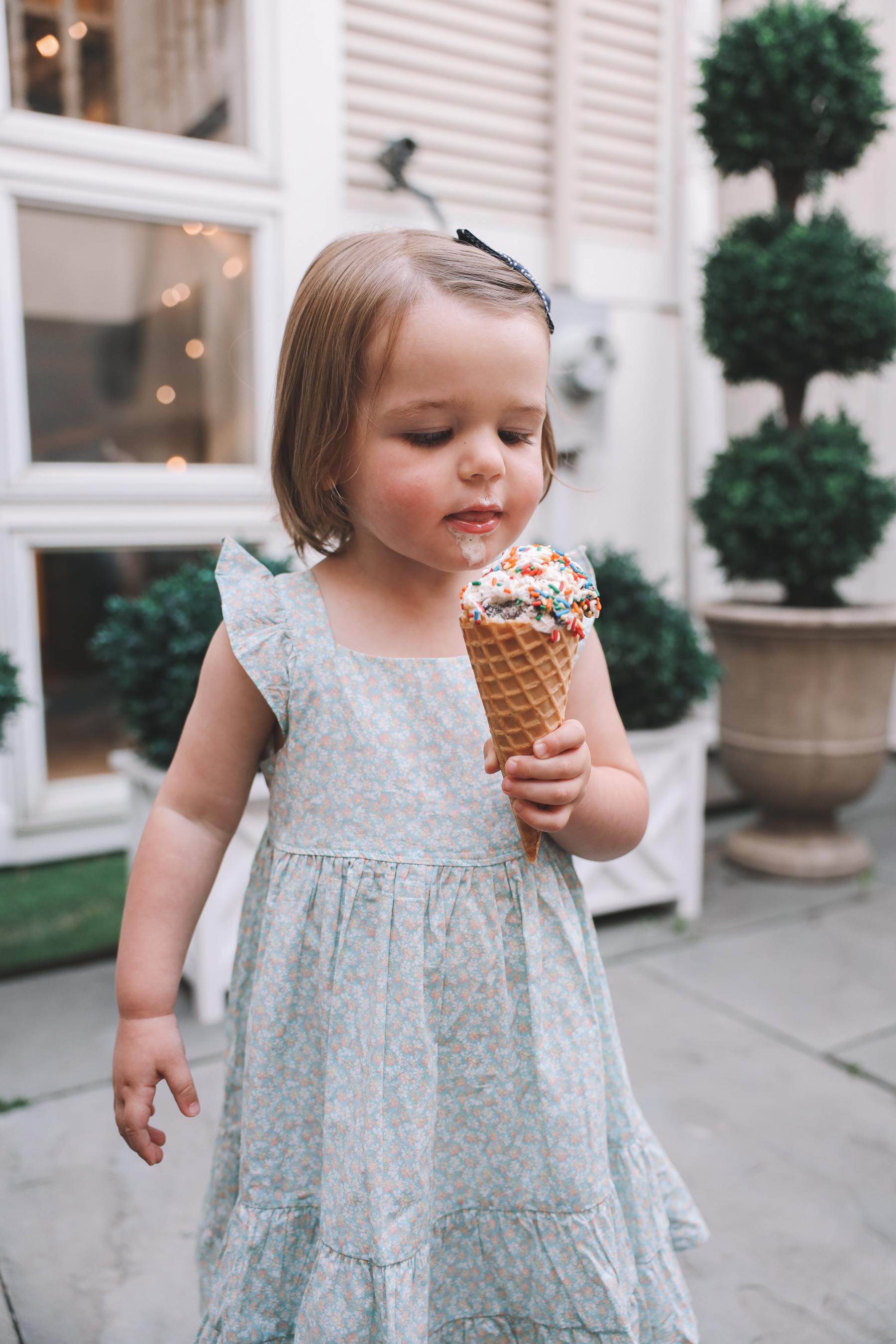 Toddler Eating Favorite Day Ice Cream