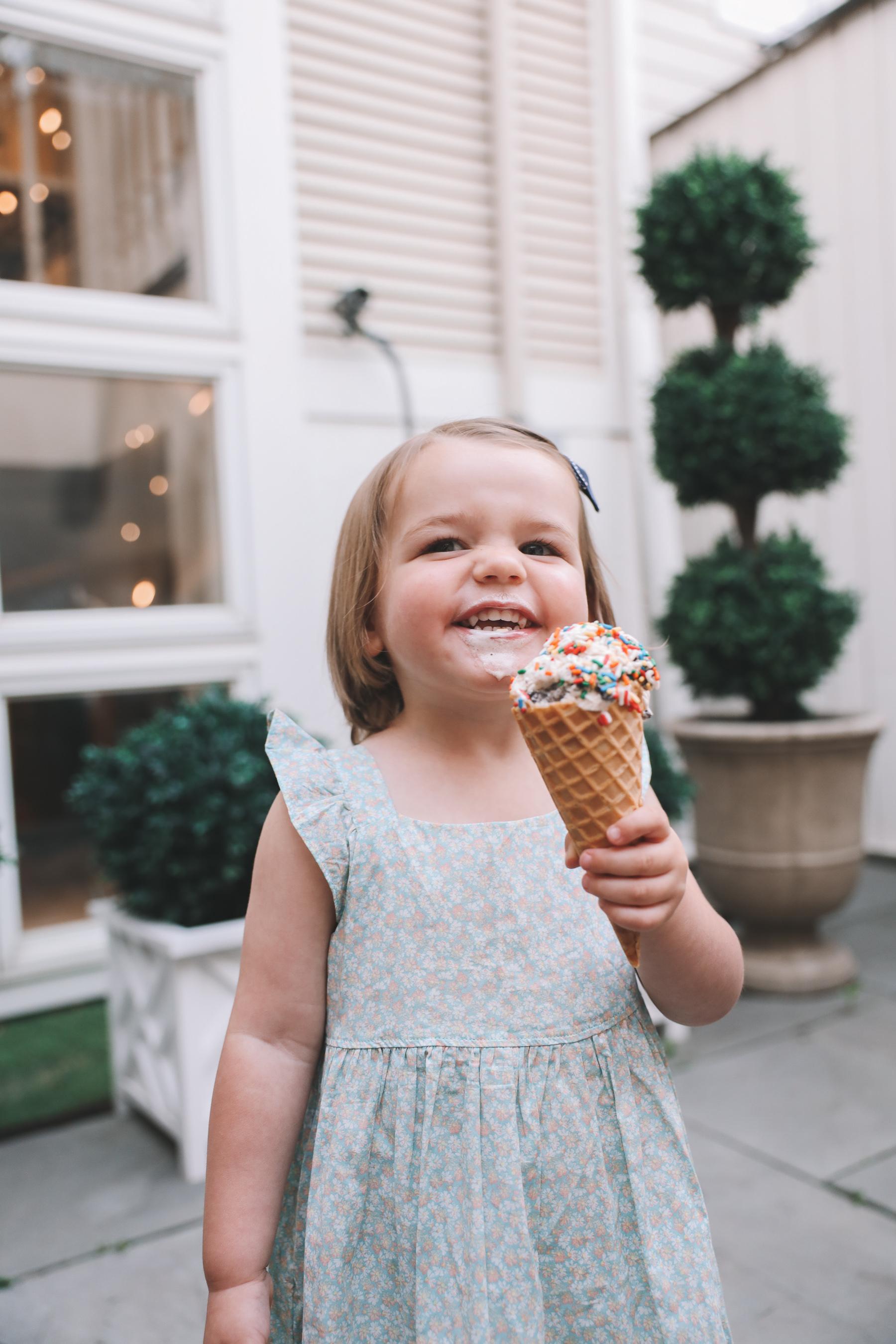 toddler eating Target ice cream