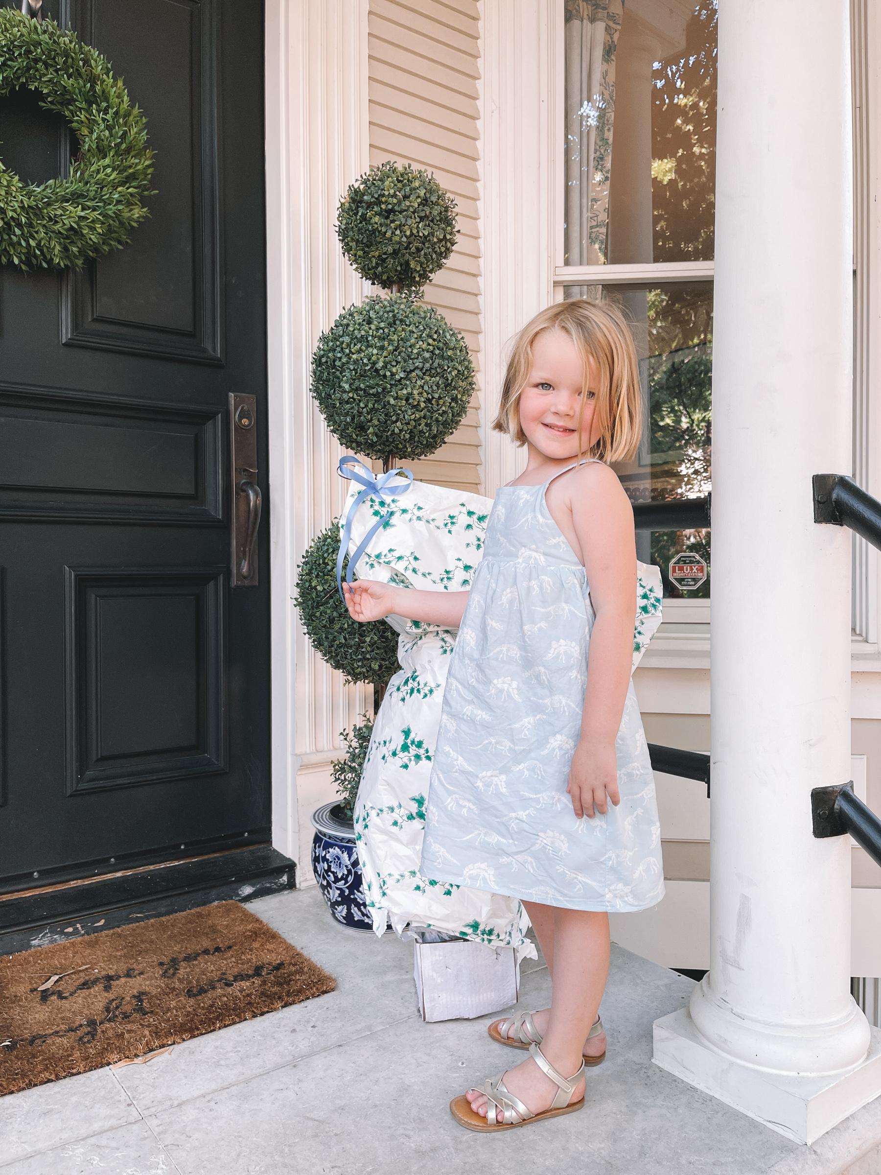 Dinosaur Dress for little girls | Emmas 5th Birthday