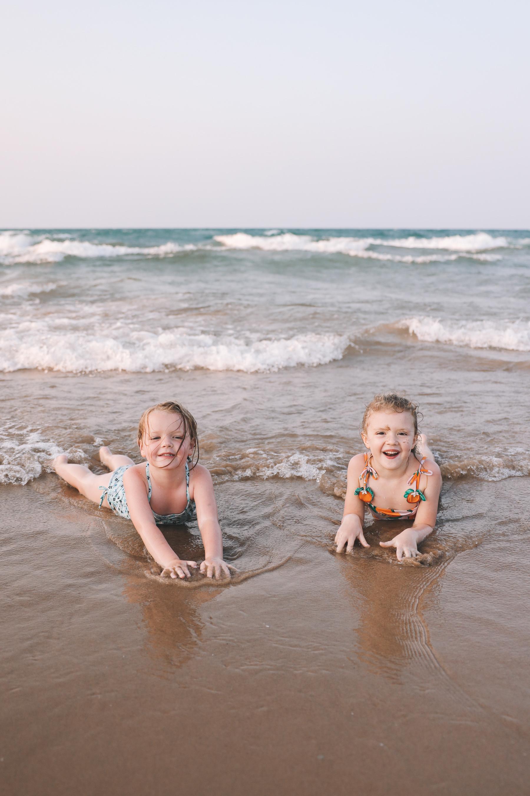 Foster Beach, Chicago with kids