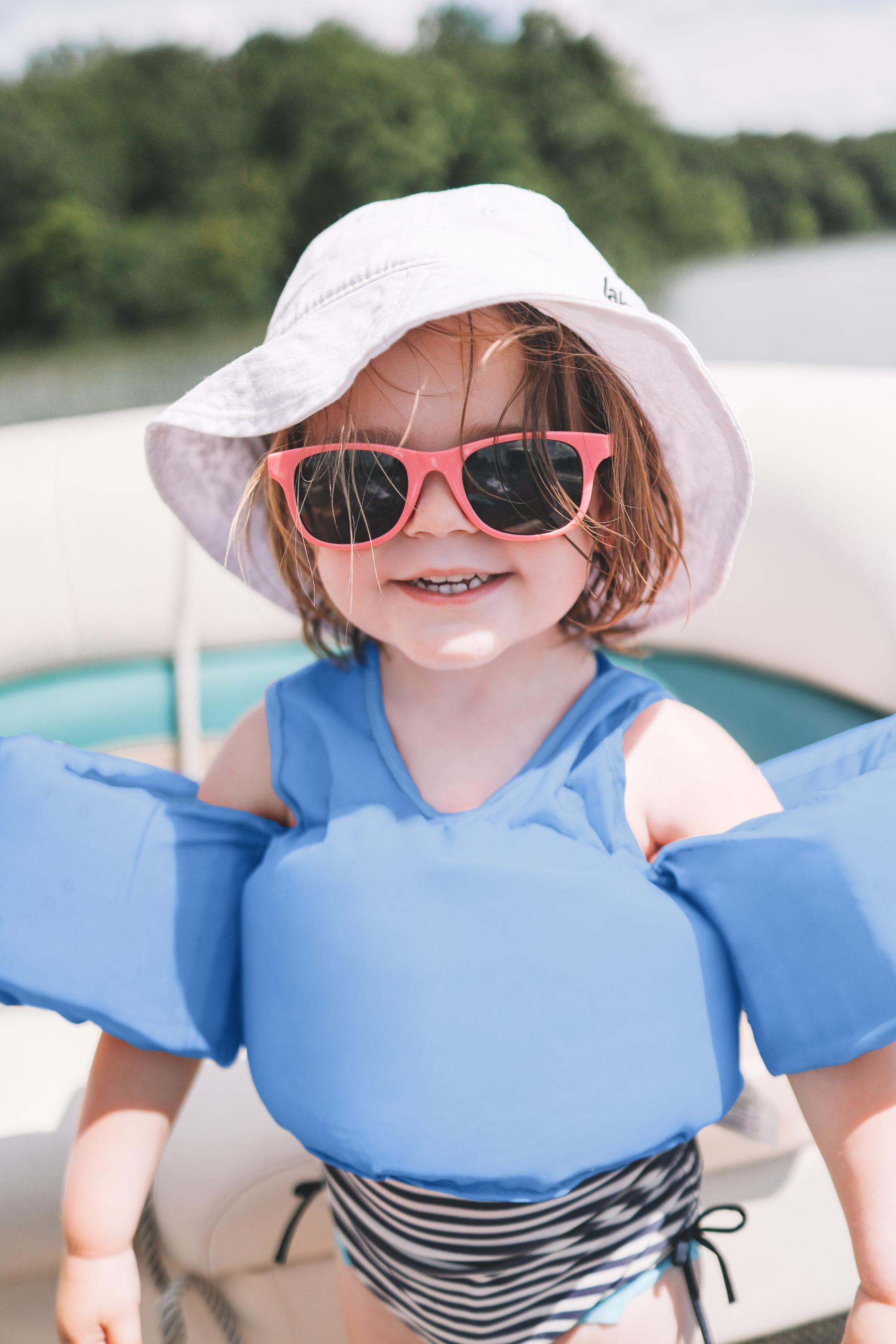 Lucy in floaties