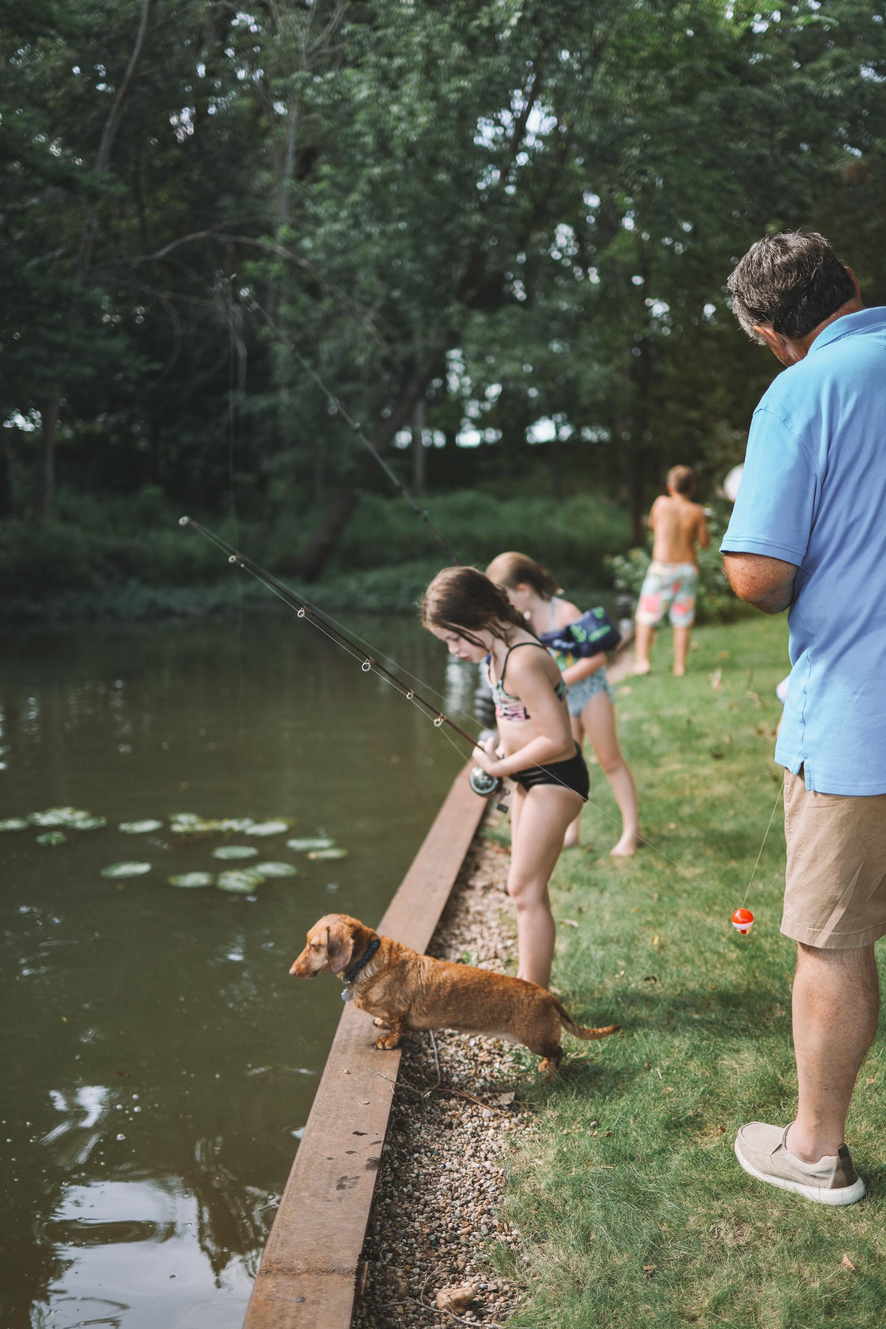 Fishing during Gammy Camp 2021