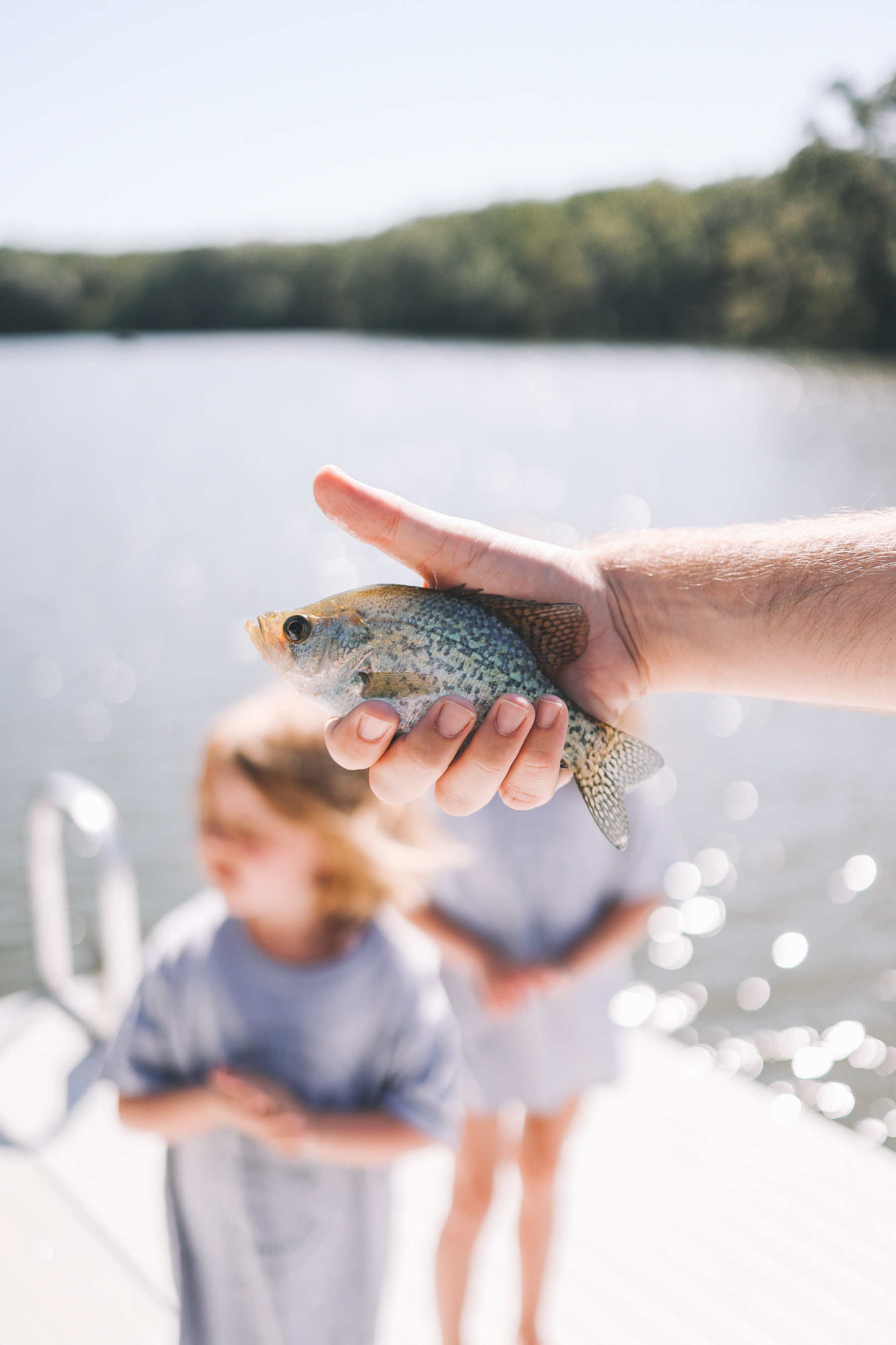 Person holding a fish Gammy Camp 2021