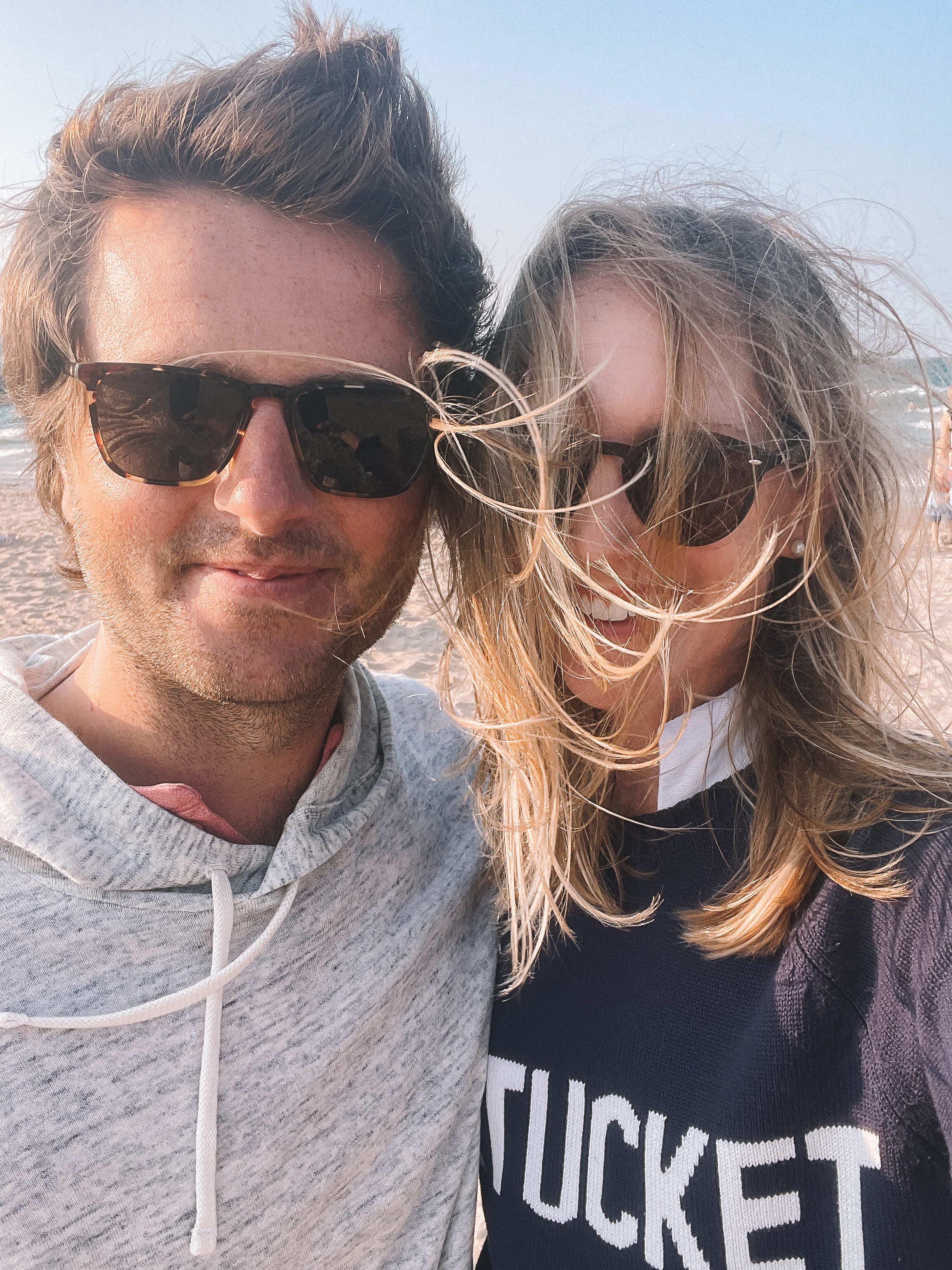 Mitch and Kelly at the beach