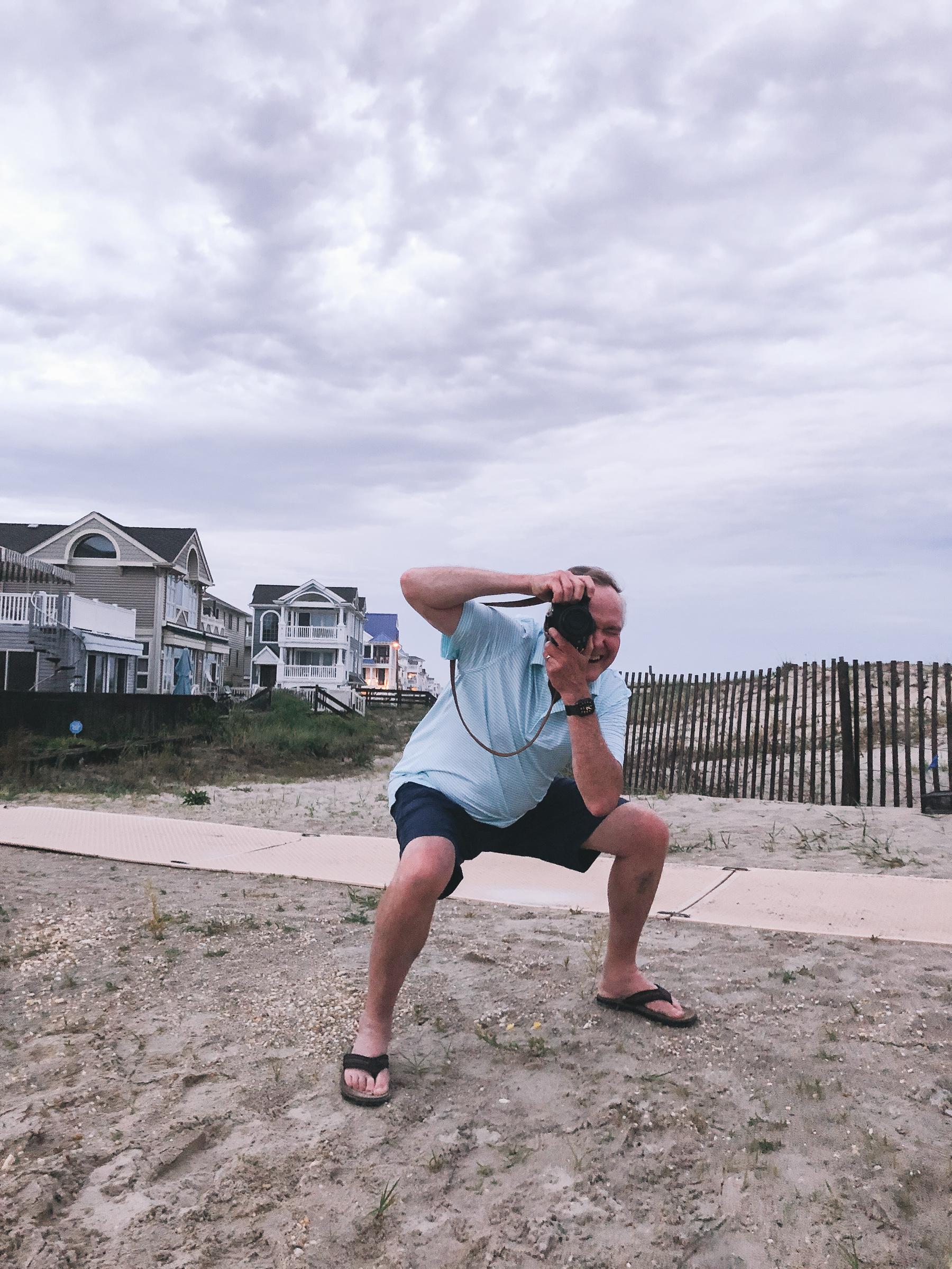 Dad taking photos