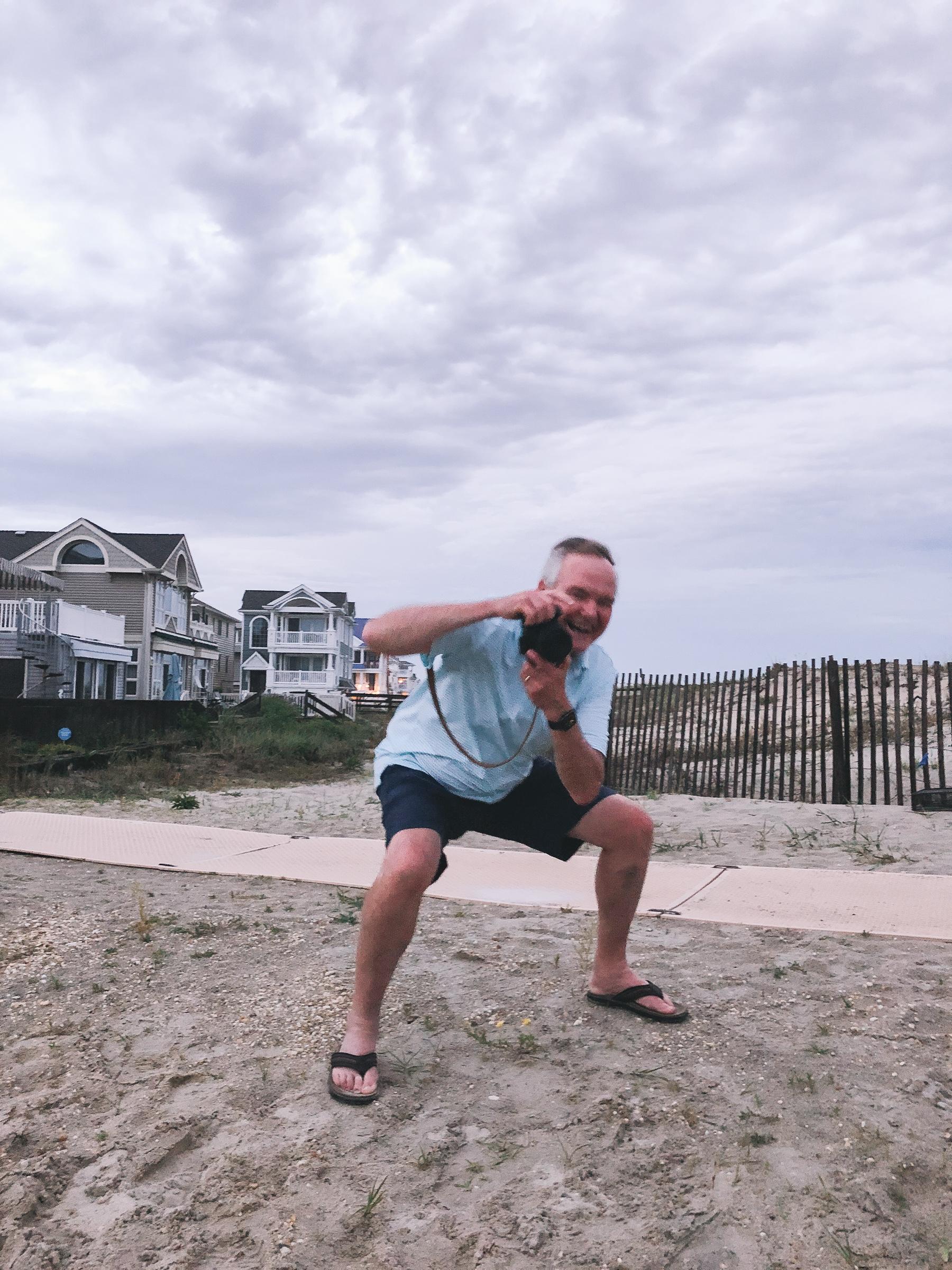 Happy Dad taking photos