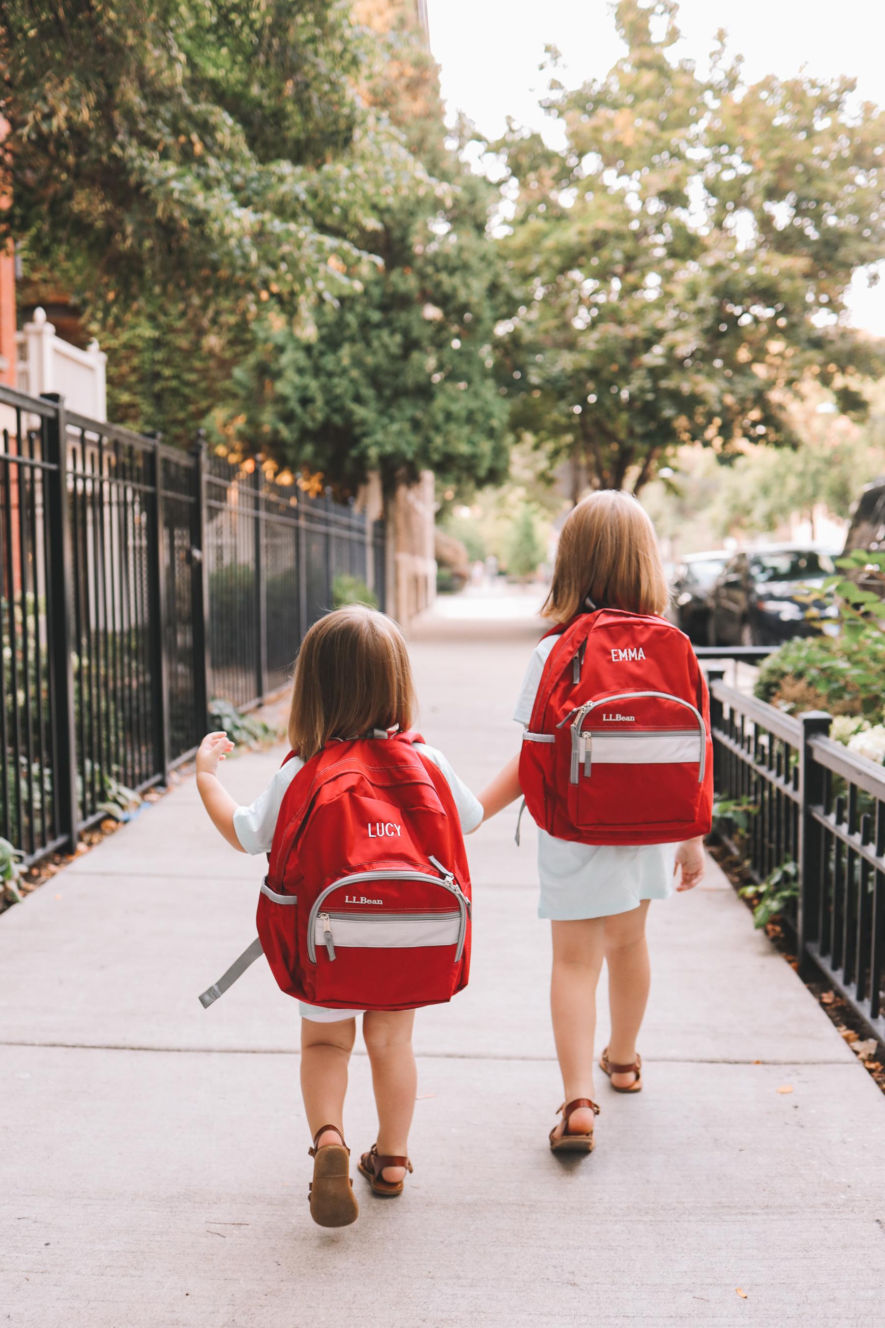 Kids in L.L.Bean Original Backpacks