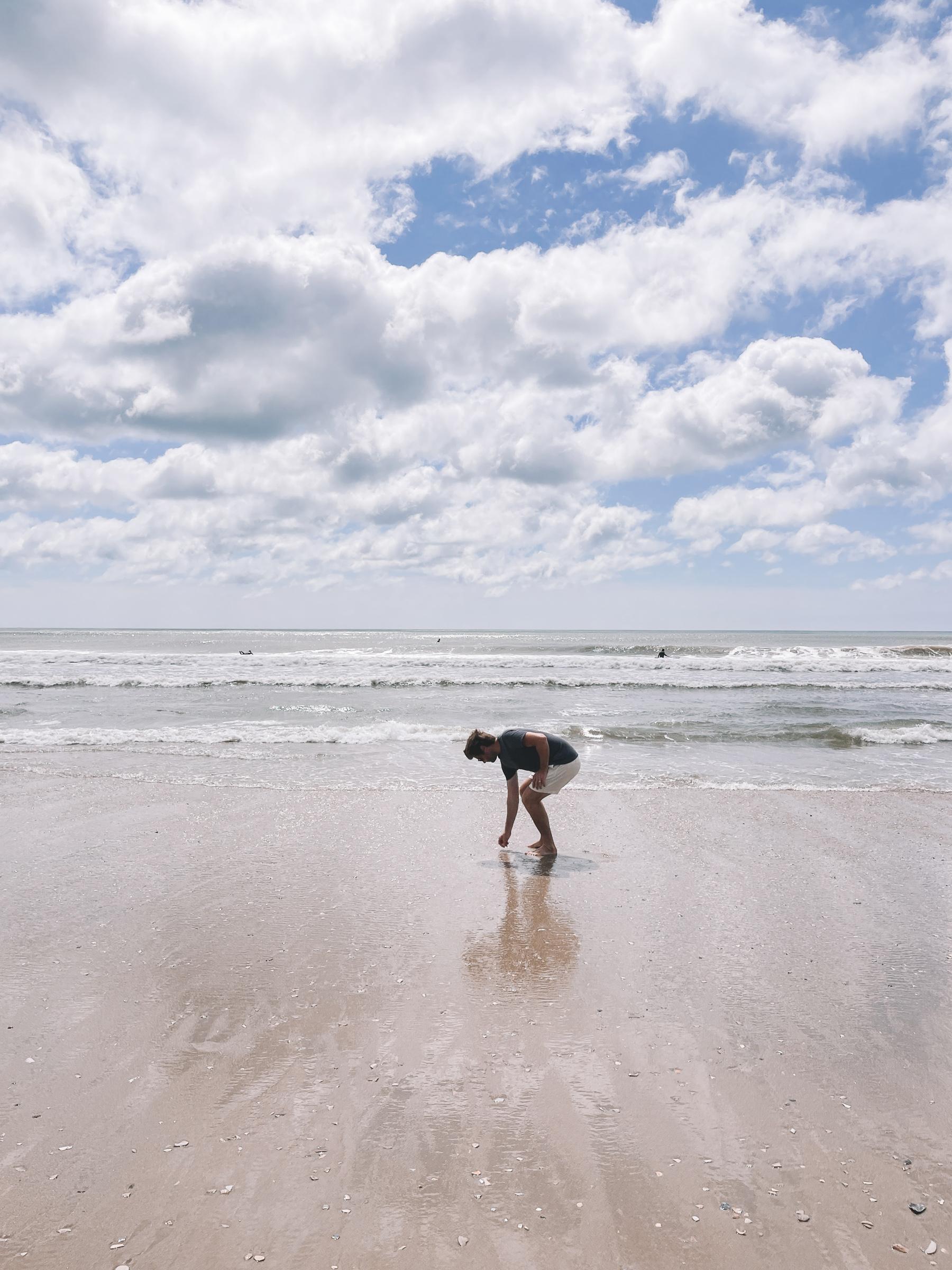 Mitch at the beach