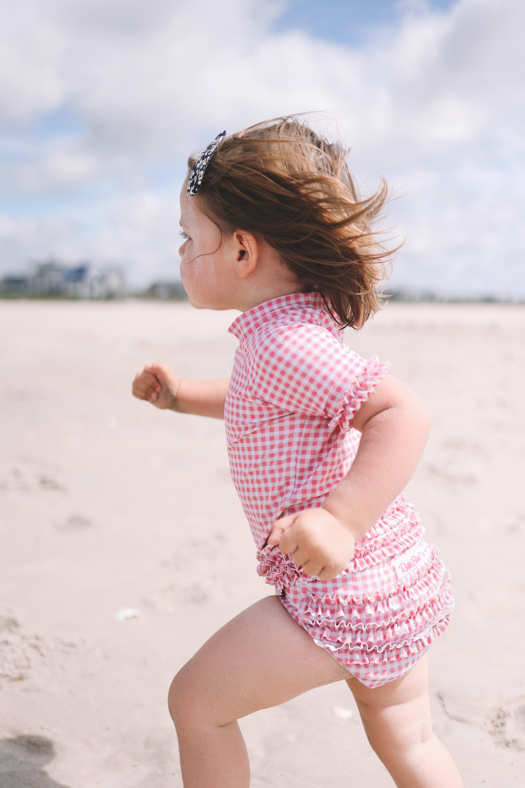 Toddler gingham swimsuit