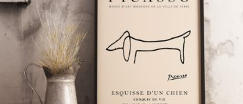 Picasso Dachshund Print   50 Home Decor Finds