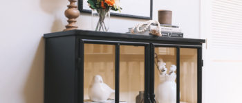 Decorating a Console Table for Fall