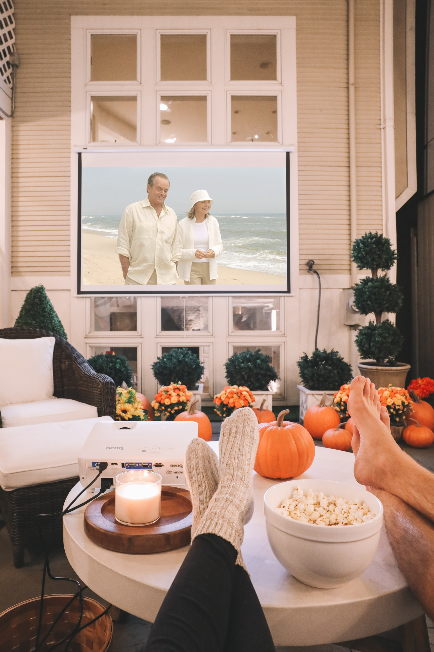 How to Make an Outdoor Movie Theater