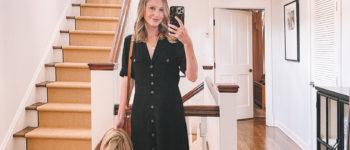 Black Shirt Dress   What I Wore 9/7