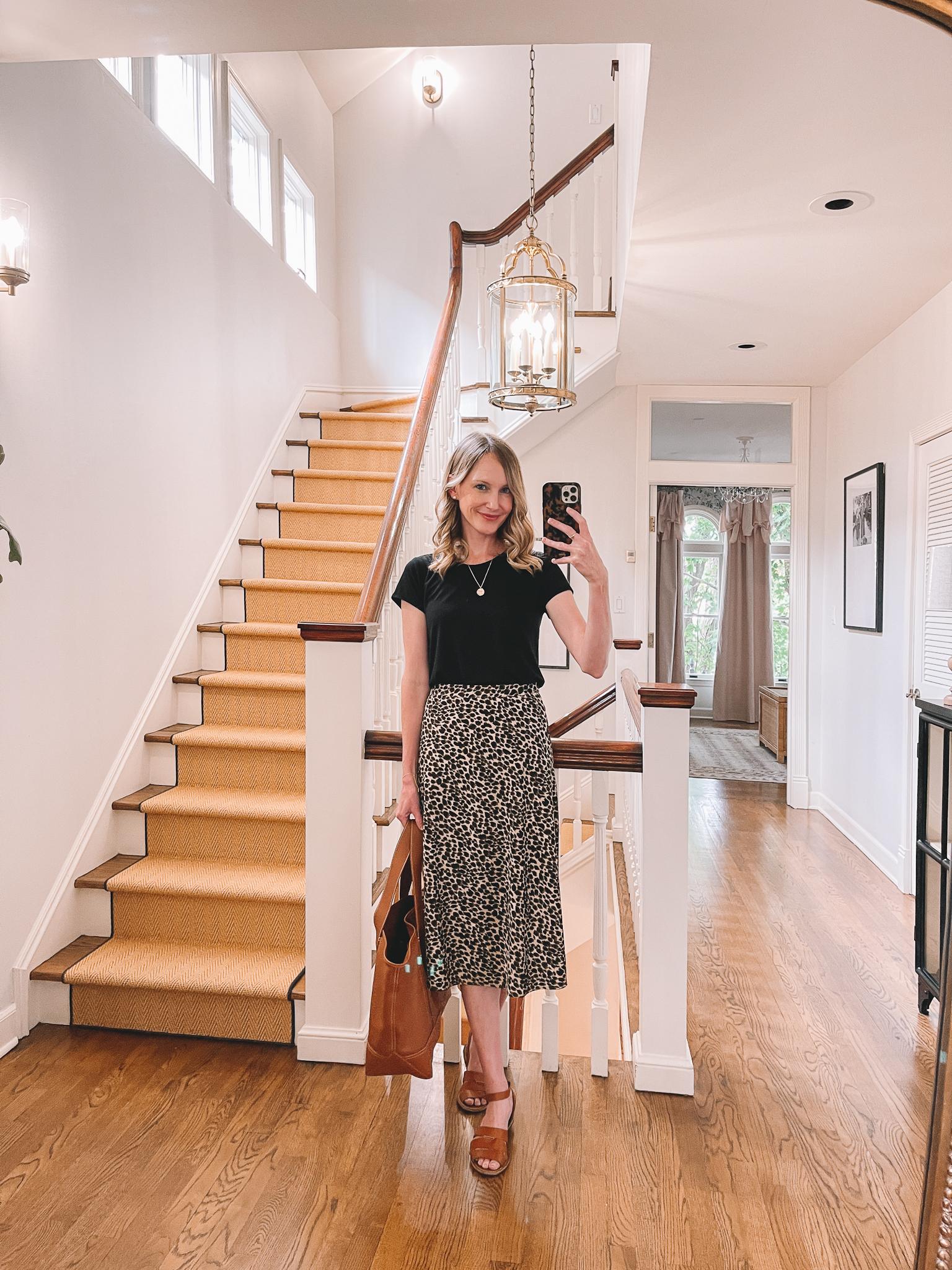 Leopard Slip Skirts   What I Wore 9/24