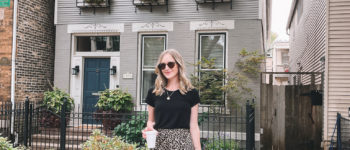 Leopard Slip Skirt outfit | What I Wore 9/24