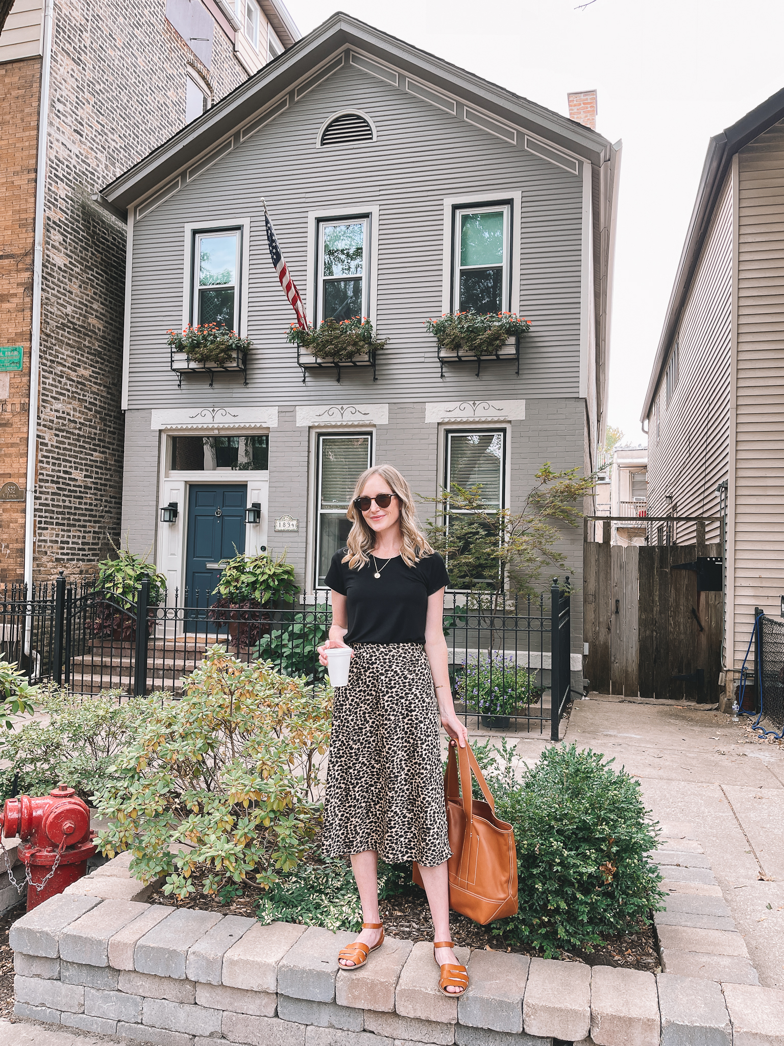 Leopard Slip Skirt outfit   What I Wore 9/24