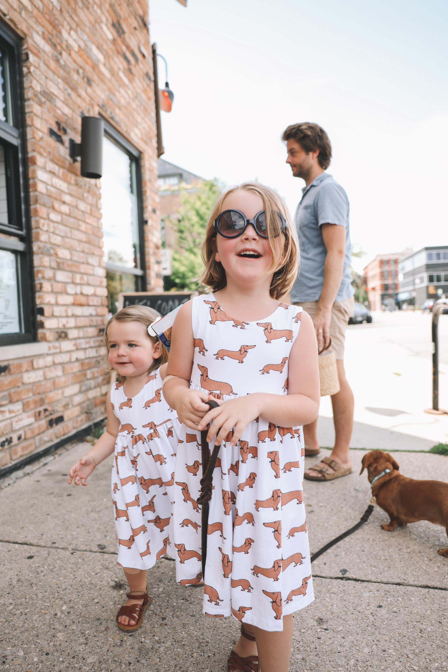 Little Girls Dachshund Dresses