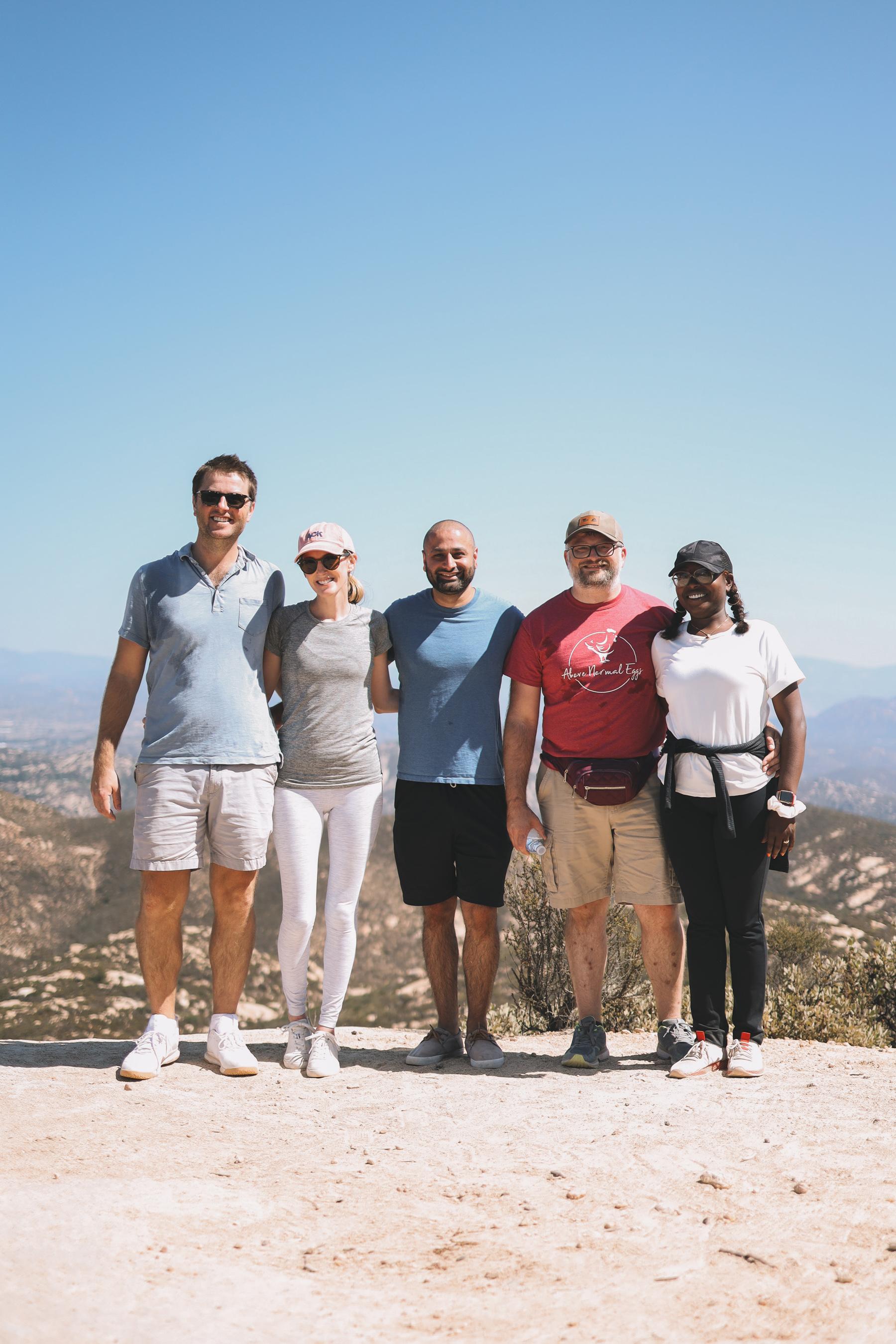 San Diego group hiking trip